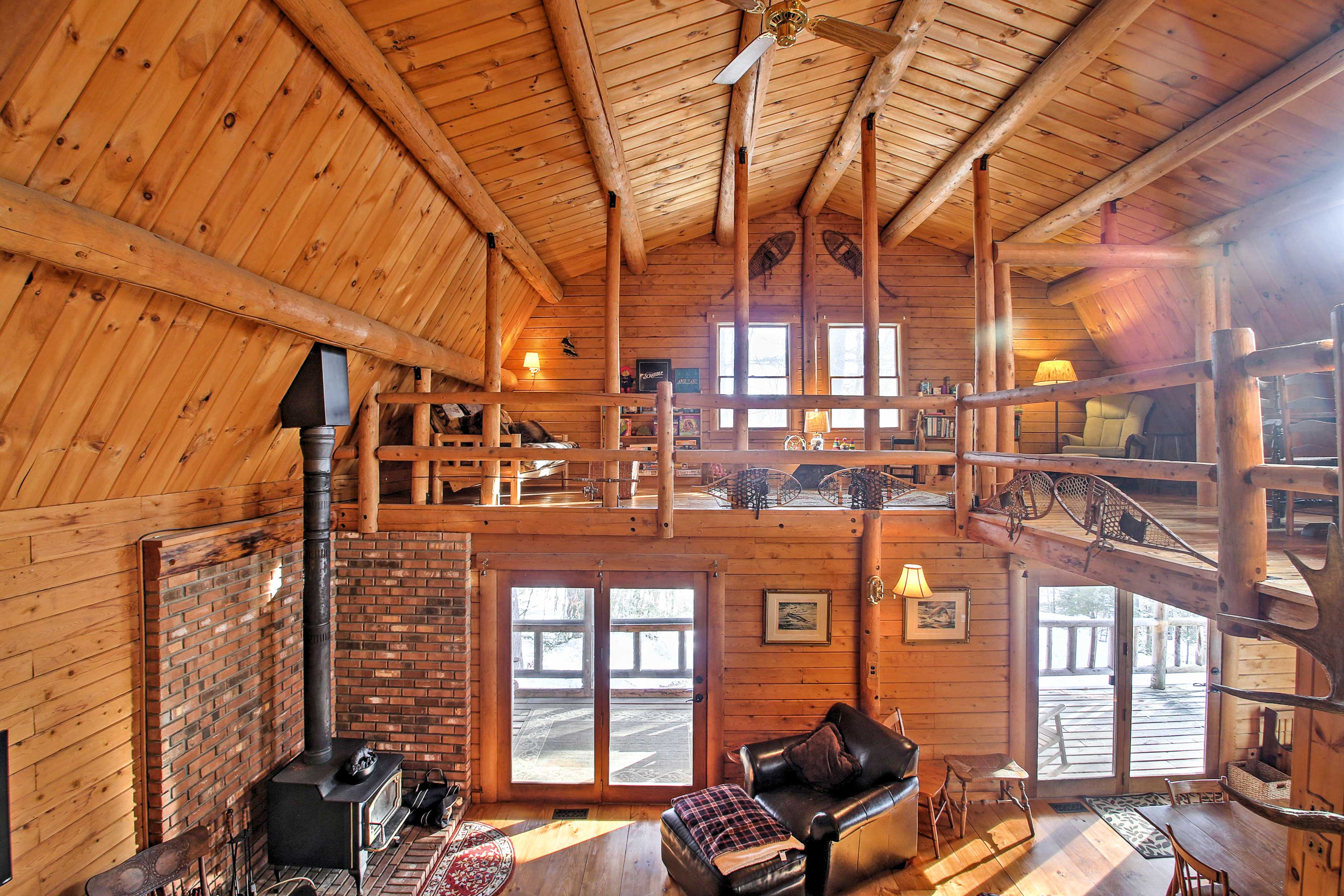 The loft area is a great place to relax or gather with your group.