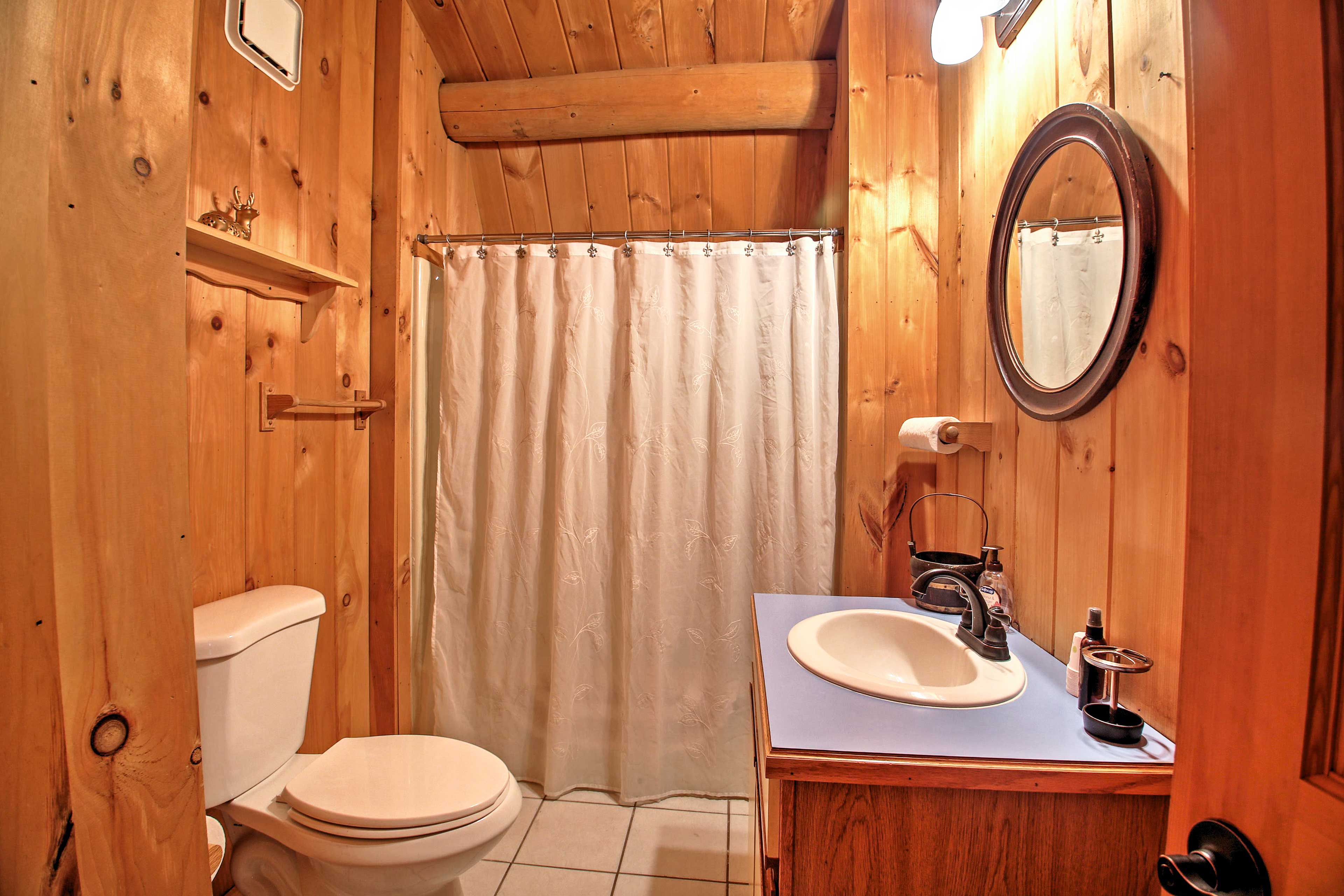 A second full bathroom provides added space to get ready!