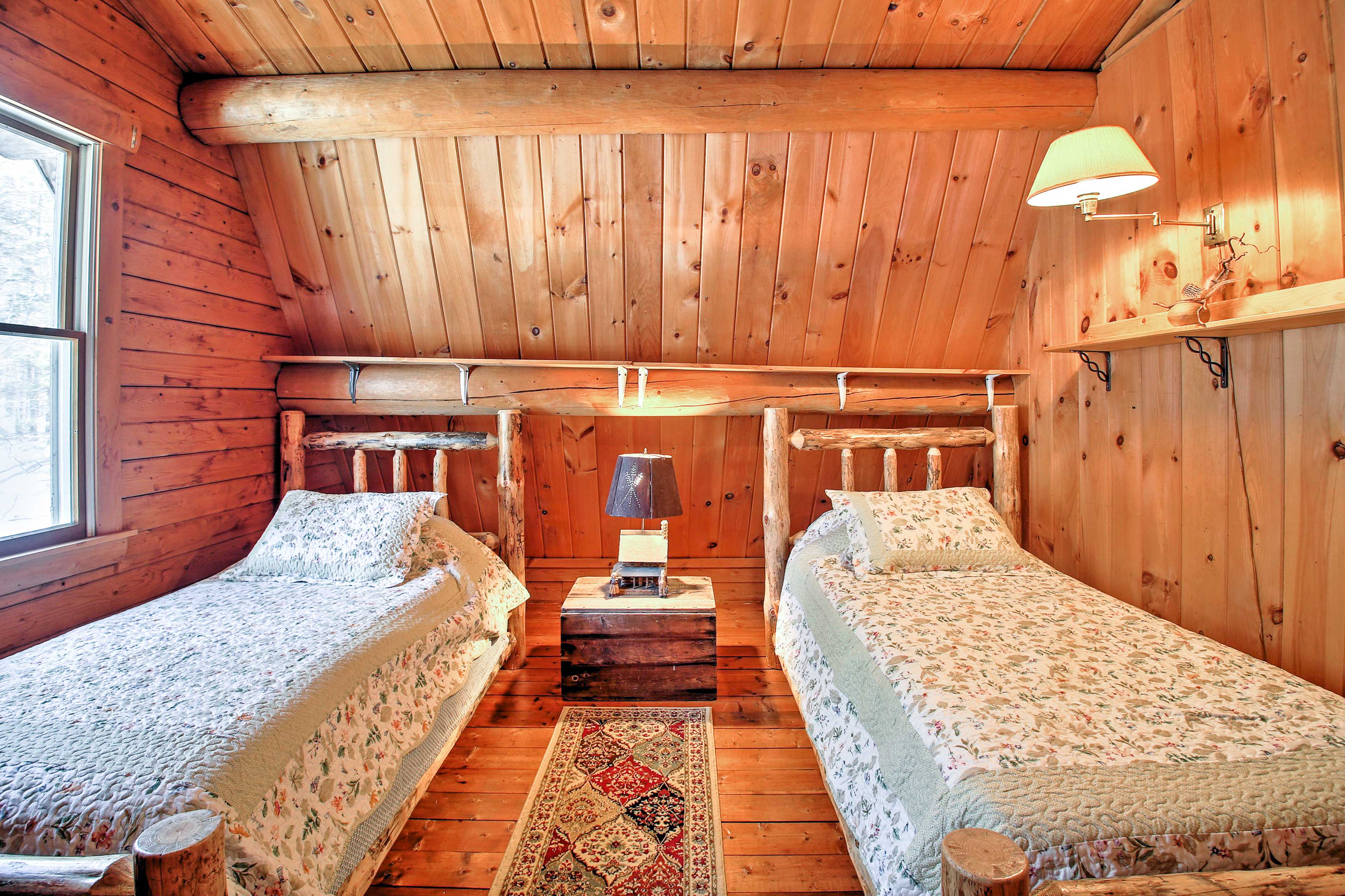 Kids love the fourth bedroom with 2 twin beds.