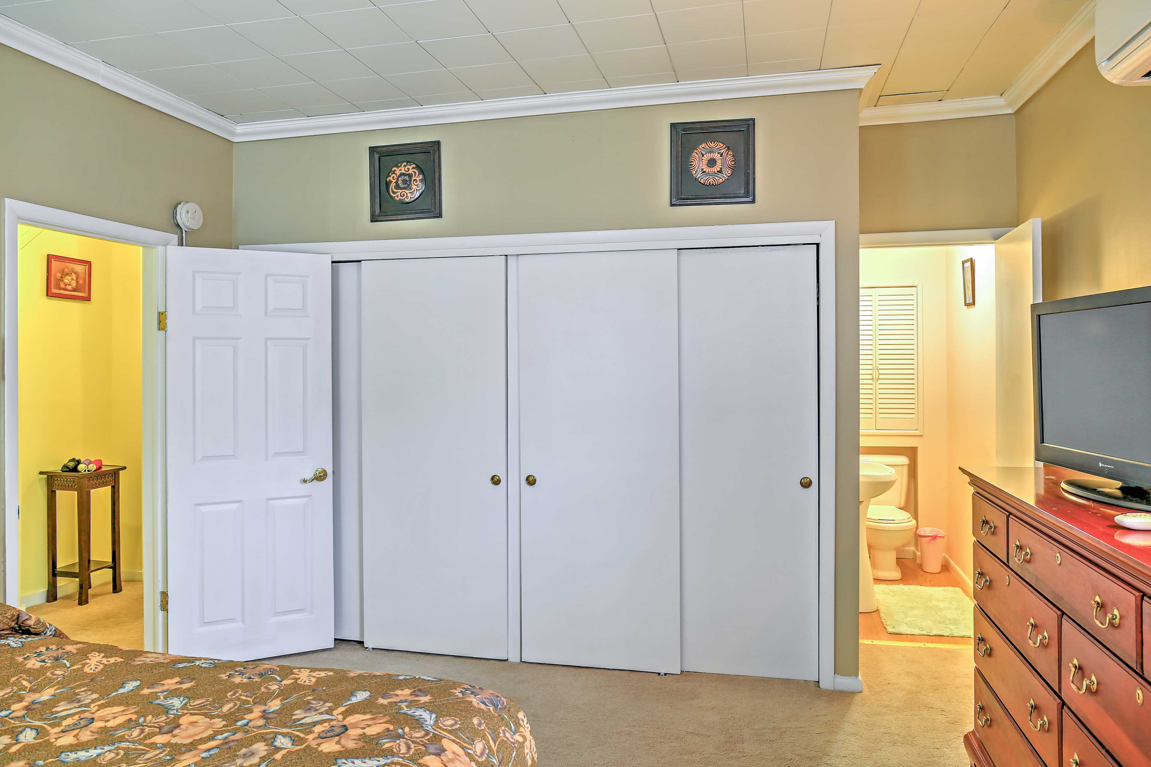 With an abundance of closet space, you can easily store your belongings!