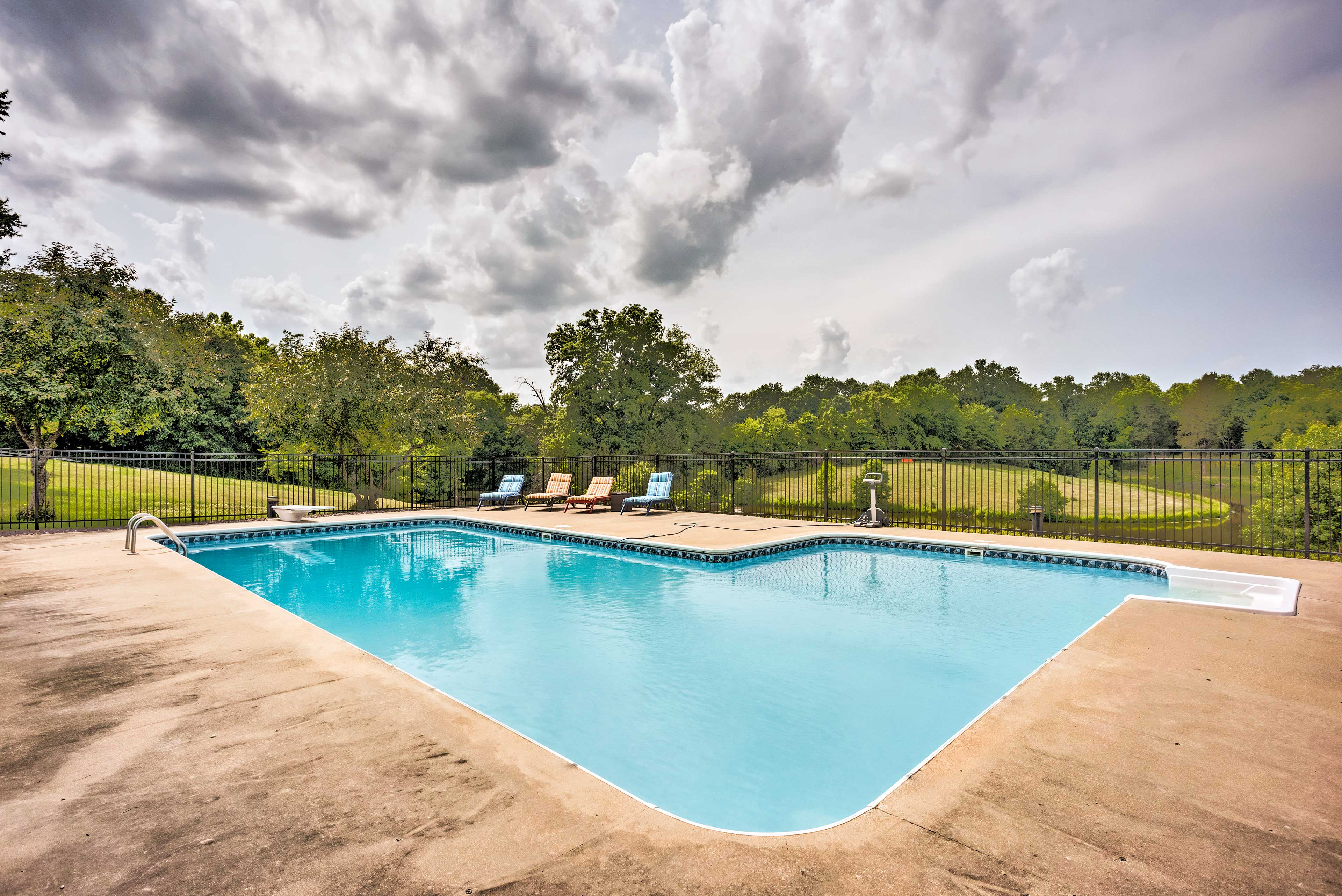 The property also boasts an in-ground swimming pool!