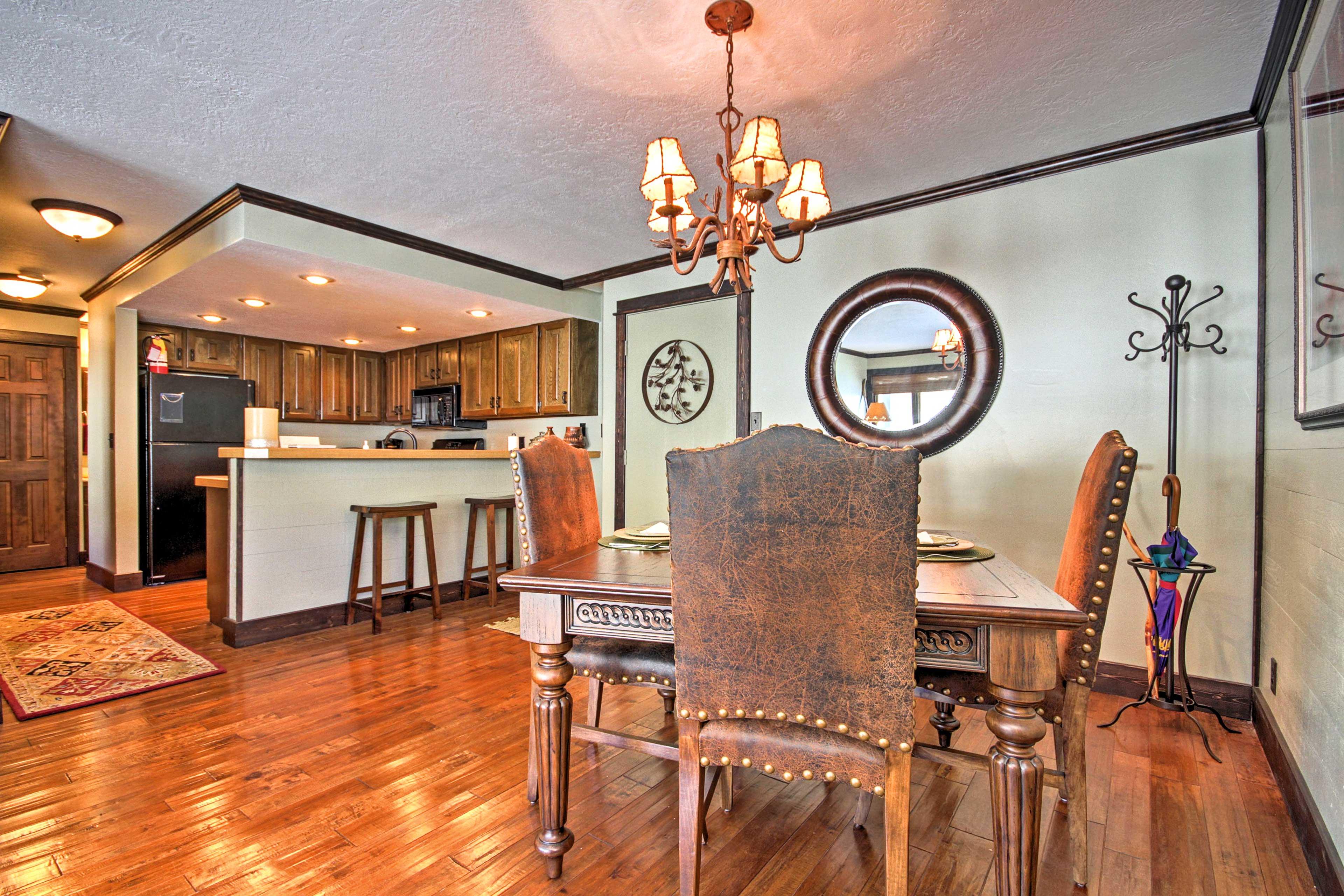 An open-floor-plan allows the condo to feel even more spacious.
