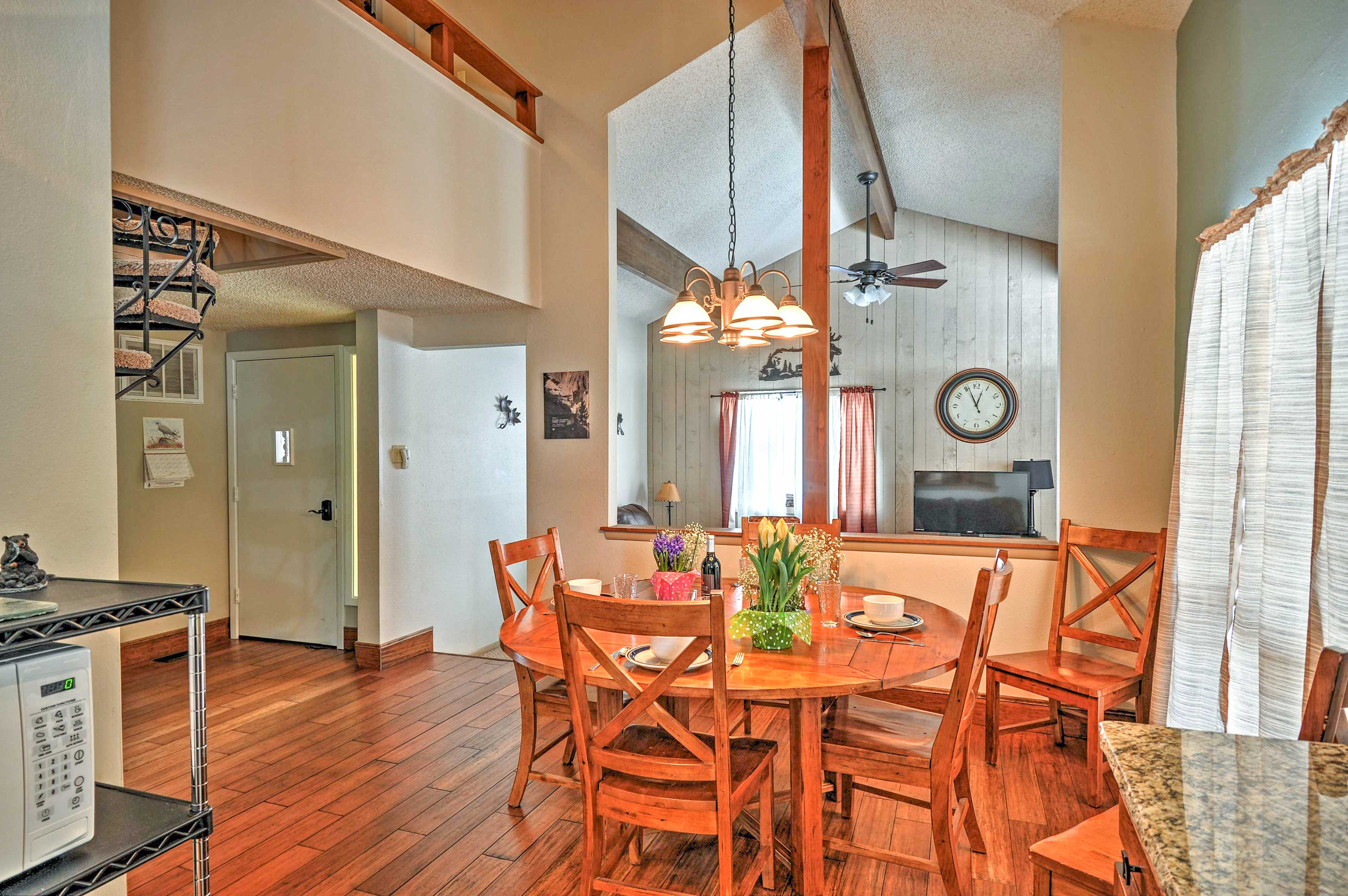 You'll love the layout of the main living space.