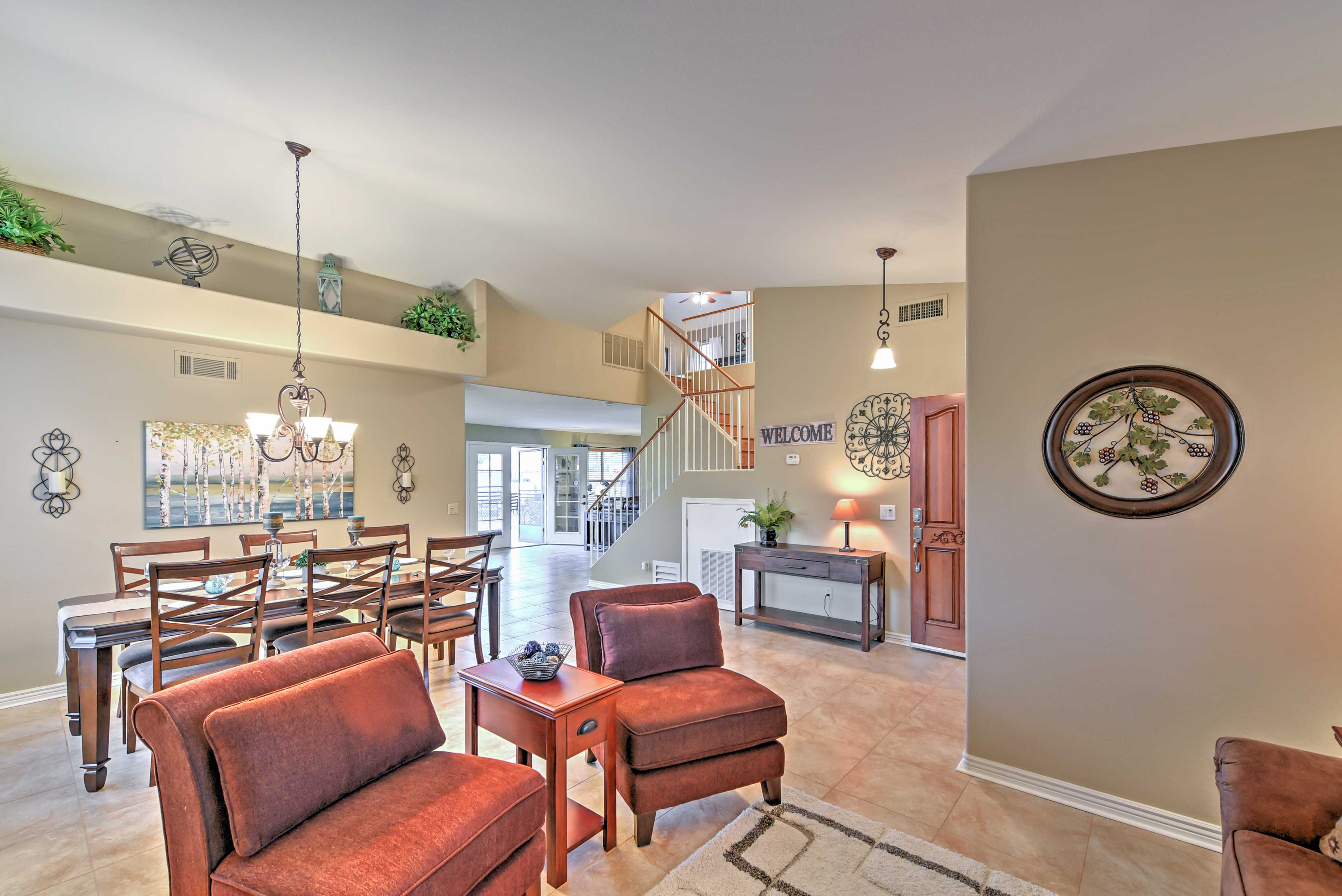 Spread out across 2,400 square feet!