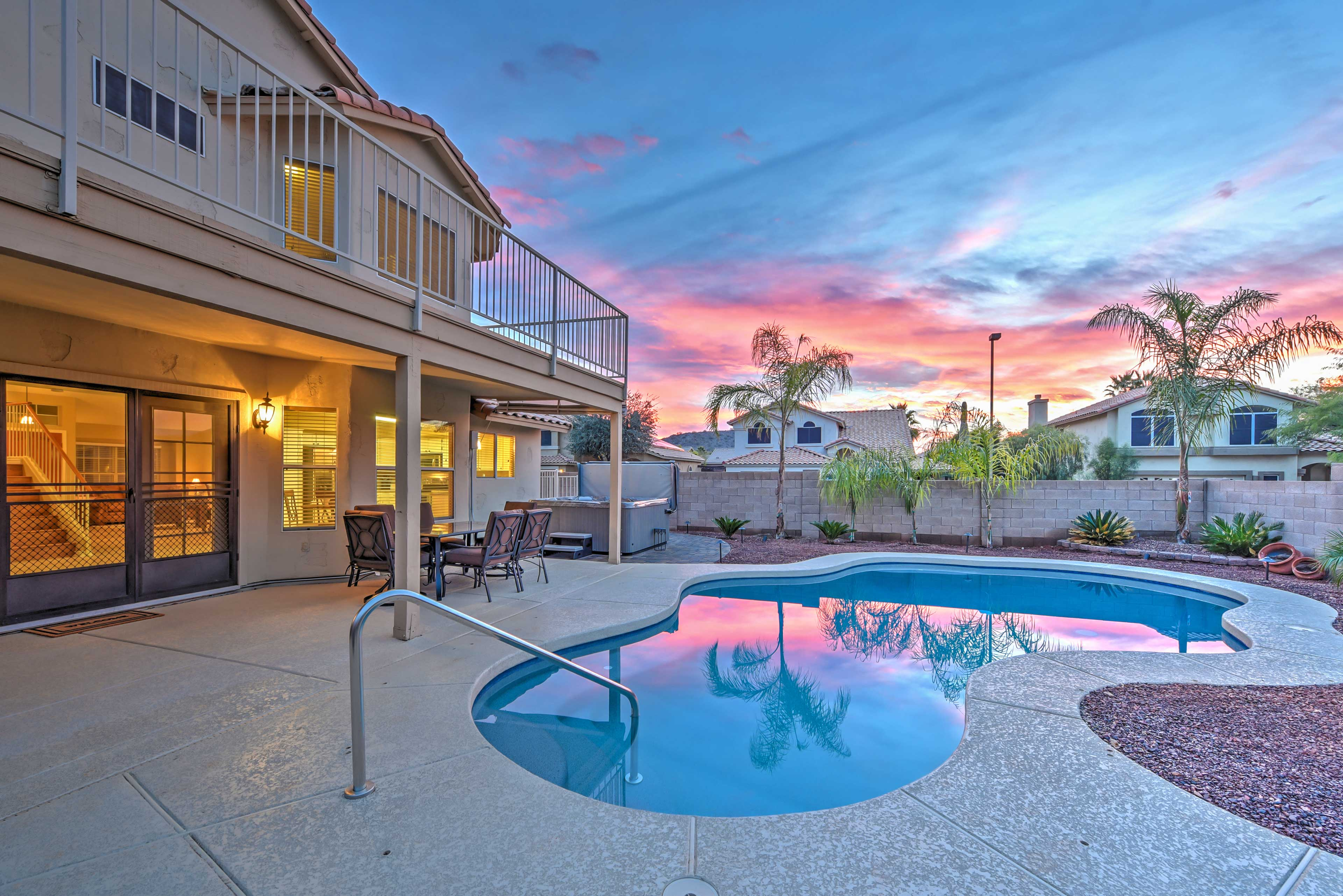 Escape to your own personal oasis in the backyard of this Goodyear vacation rental.
