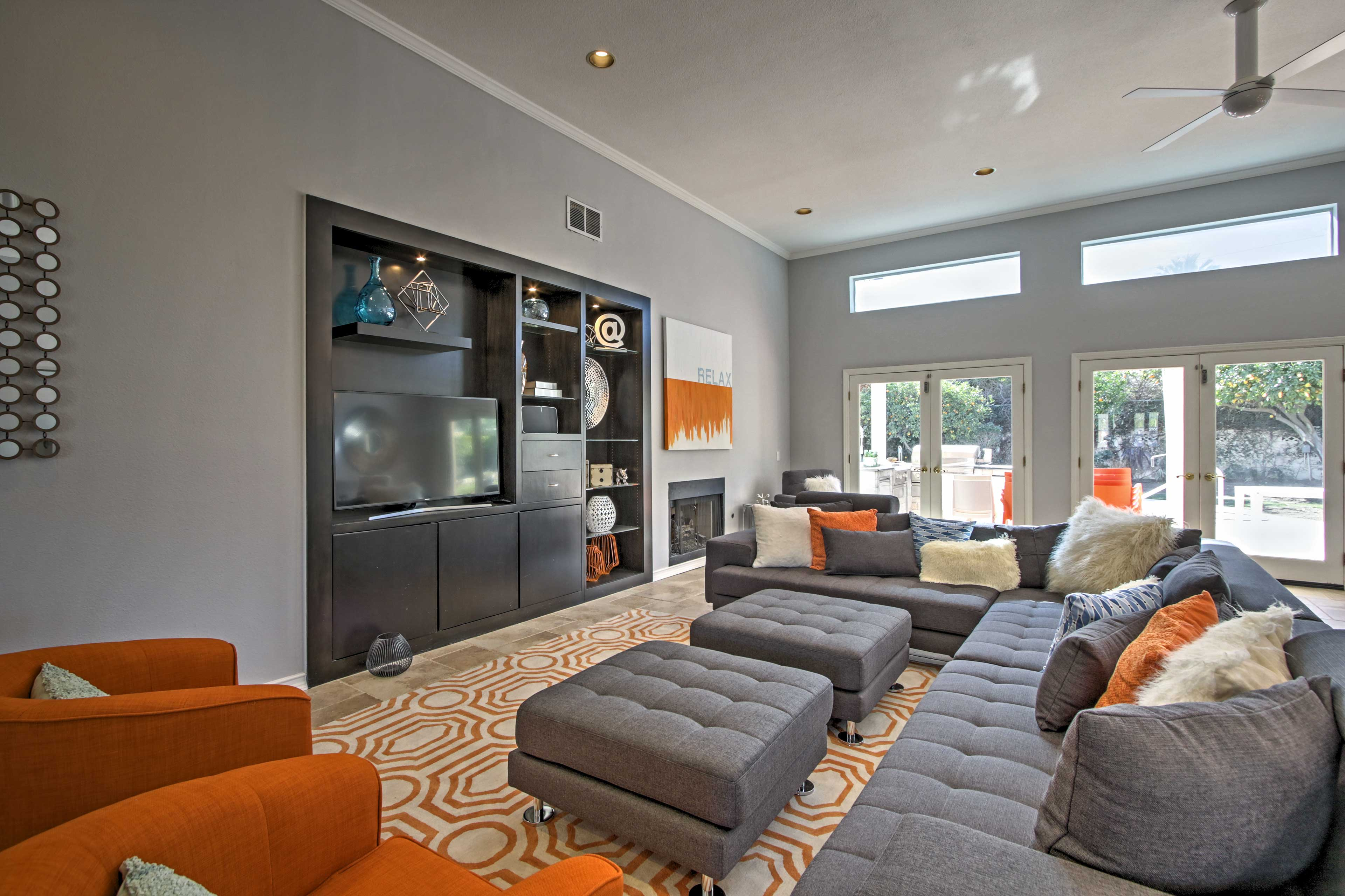 The spacious living area welcomes you to relax and unwind.