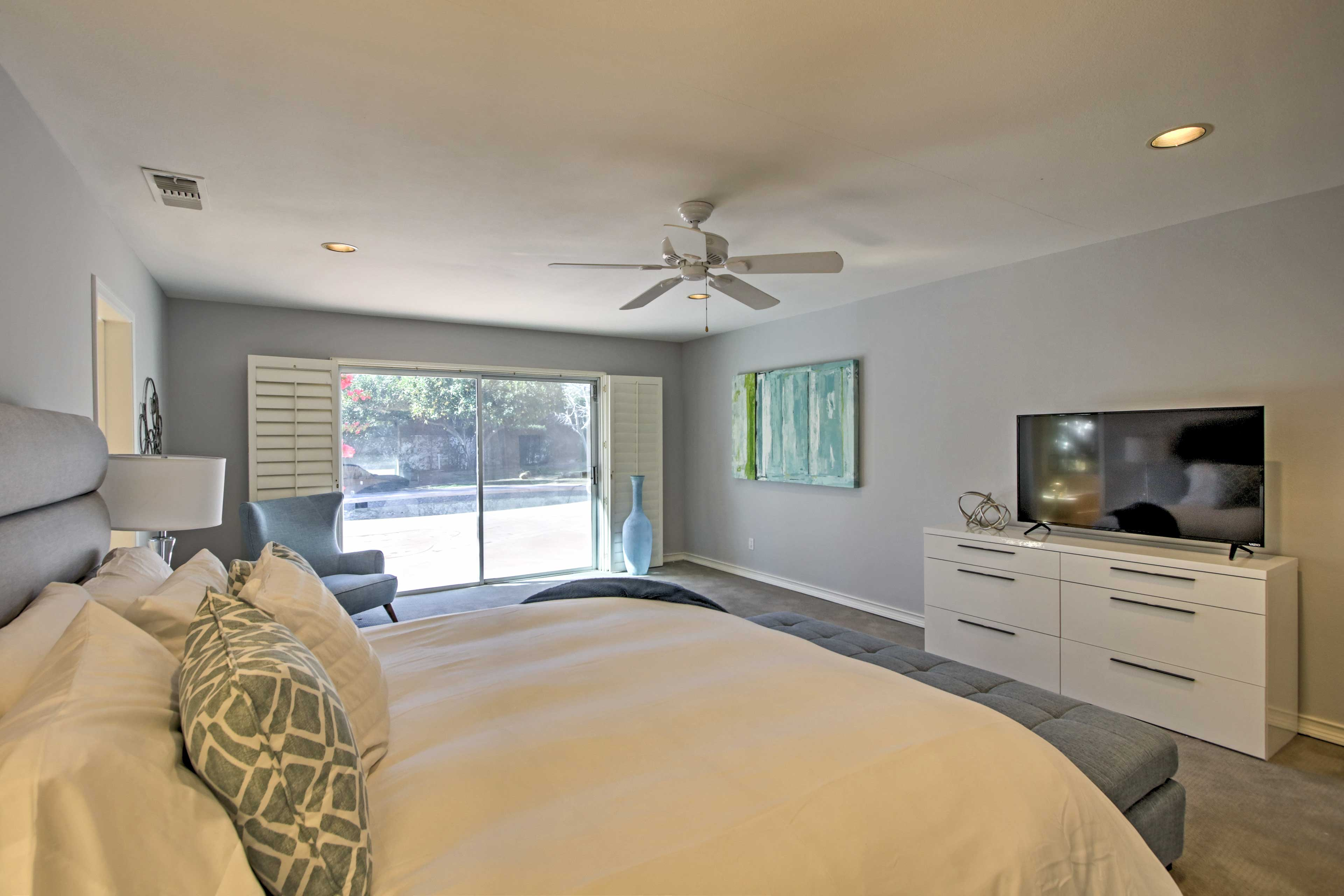 Rise and shine to natural sunlight each morning.
