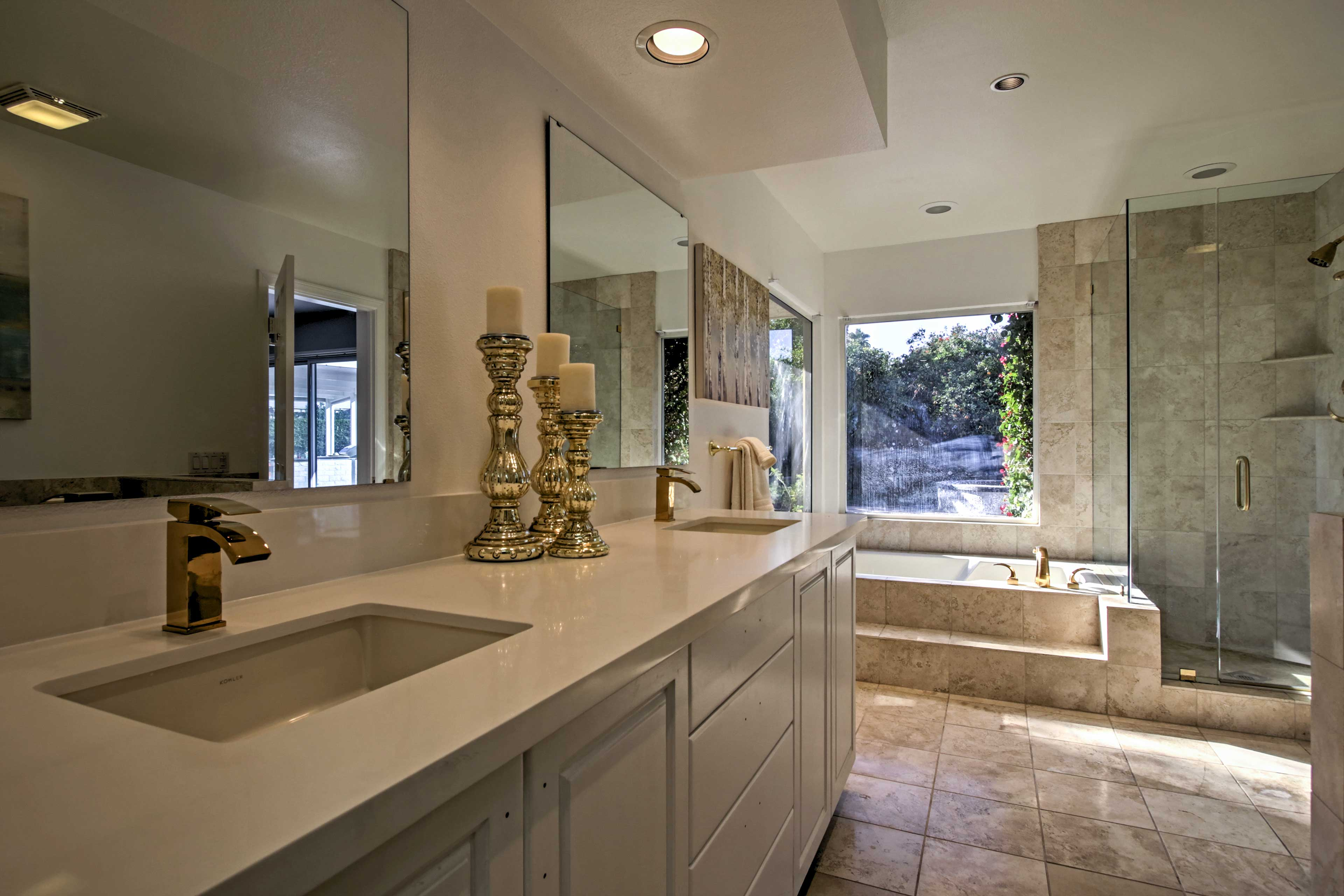 Plan out your day while freshening up in the pristine bathrooms.