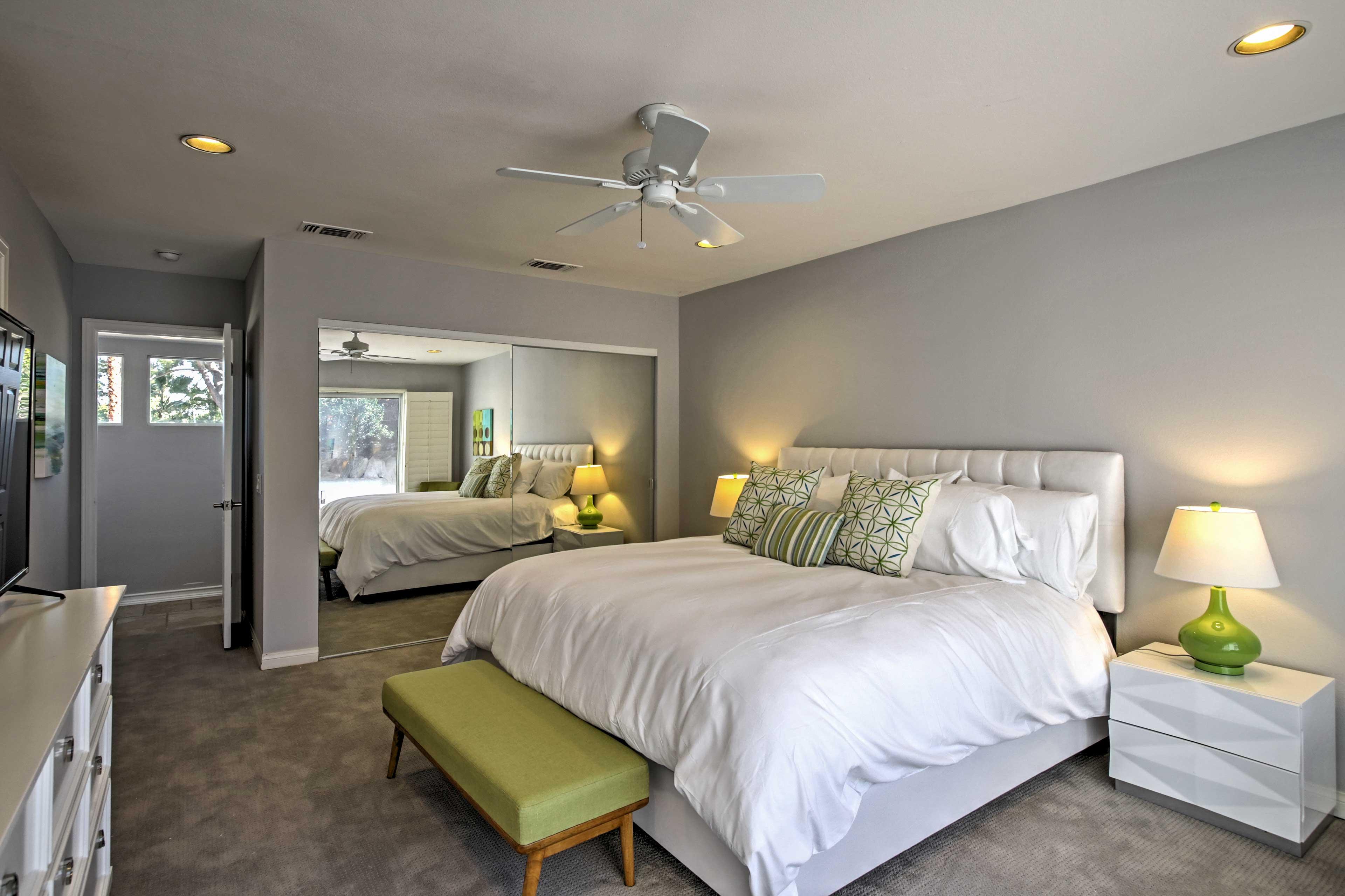 Jump into a deep sleep on the luxury linens.