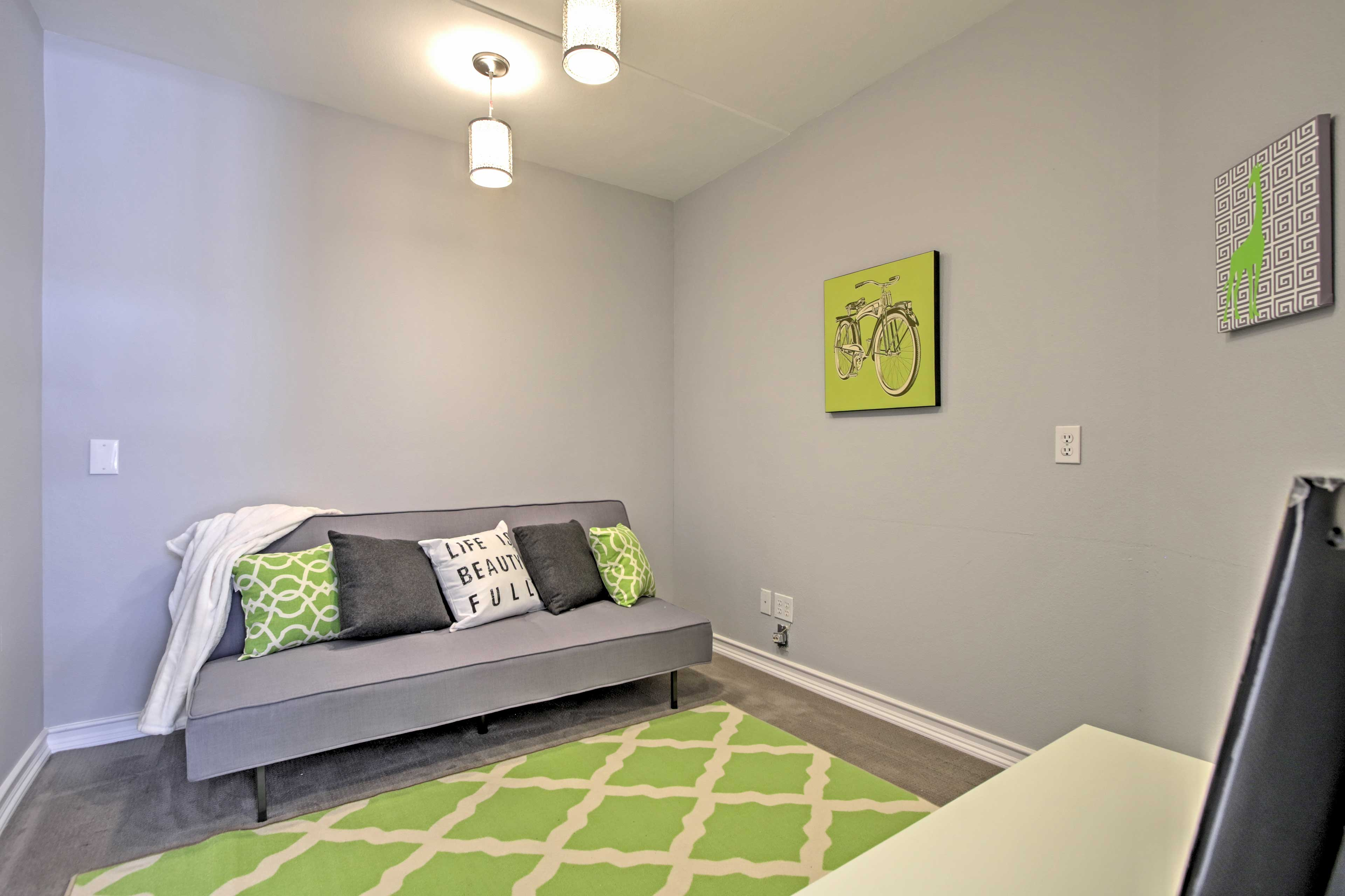 Kids will love their own cozy corner with a TV!