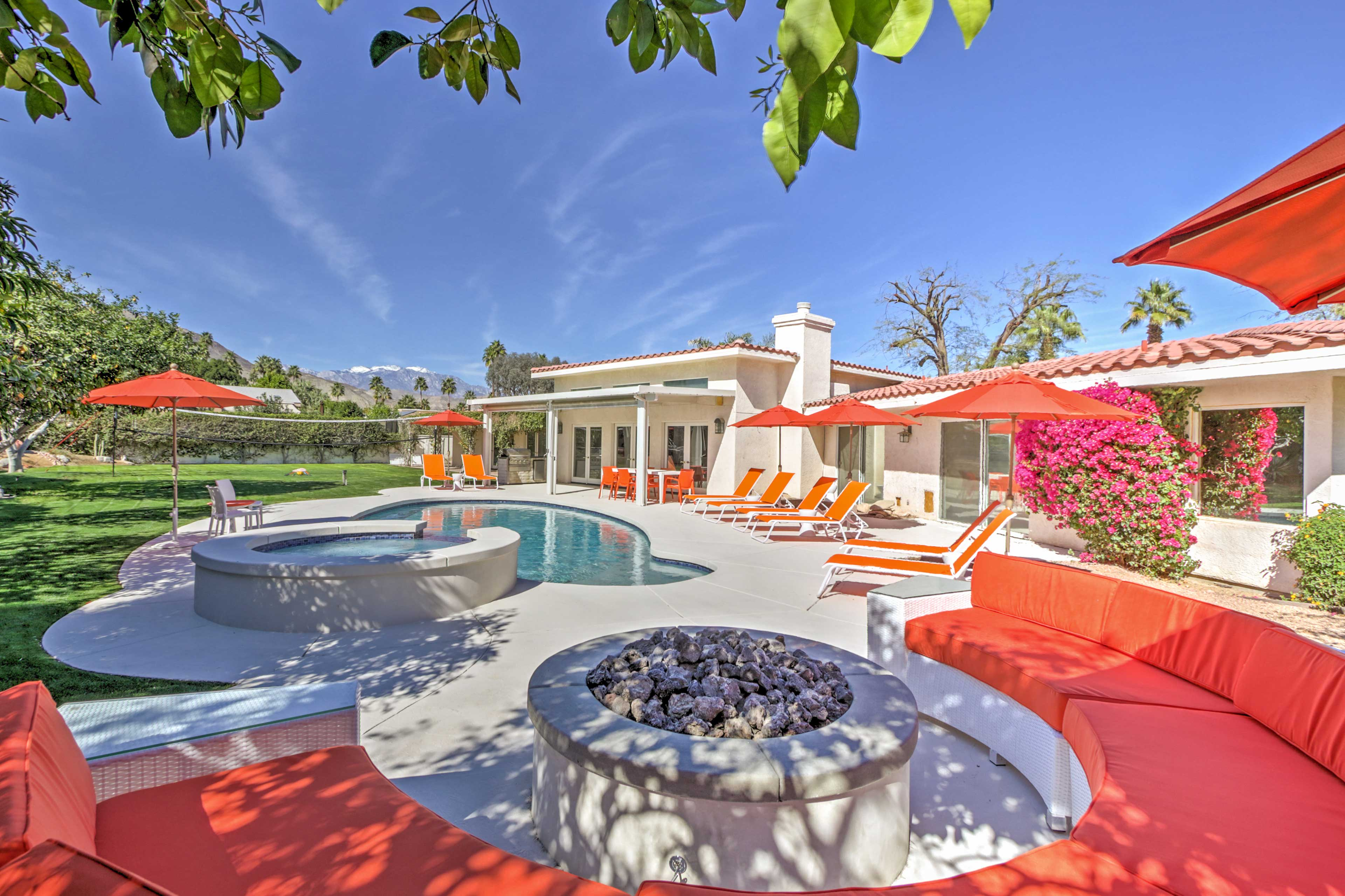 You'll love the privacy of this beautiful vacation rental home in Palm Desert.