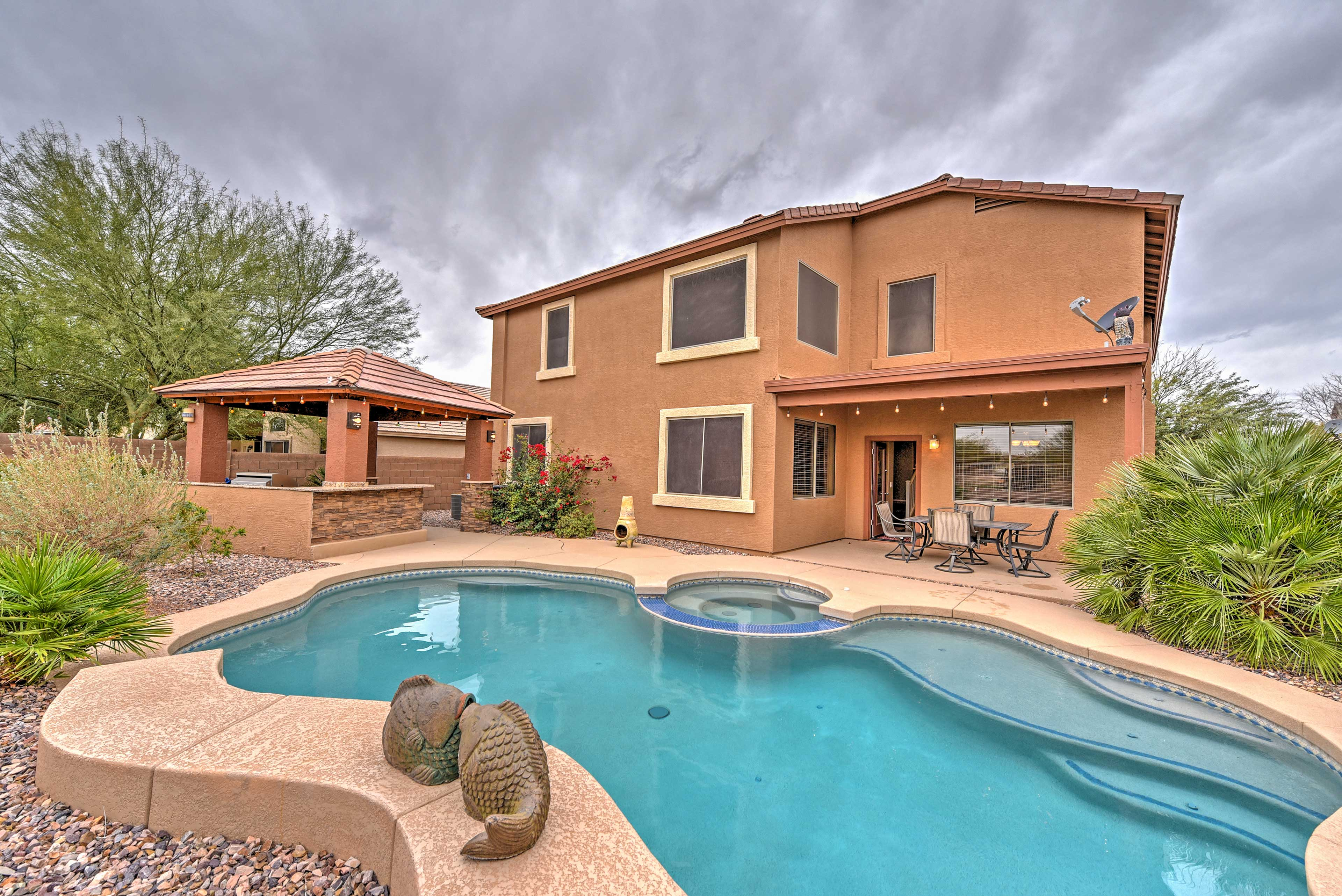 Your Phoenix retreat begins at this luxury vacation rental house!