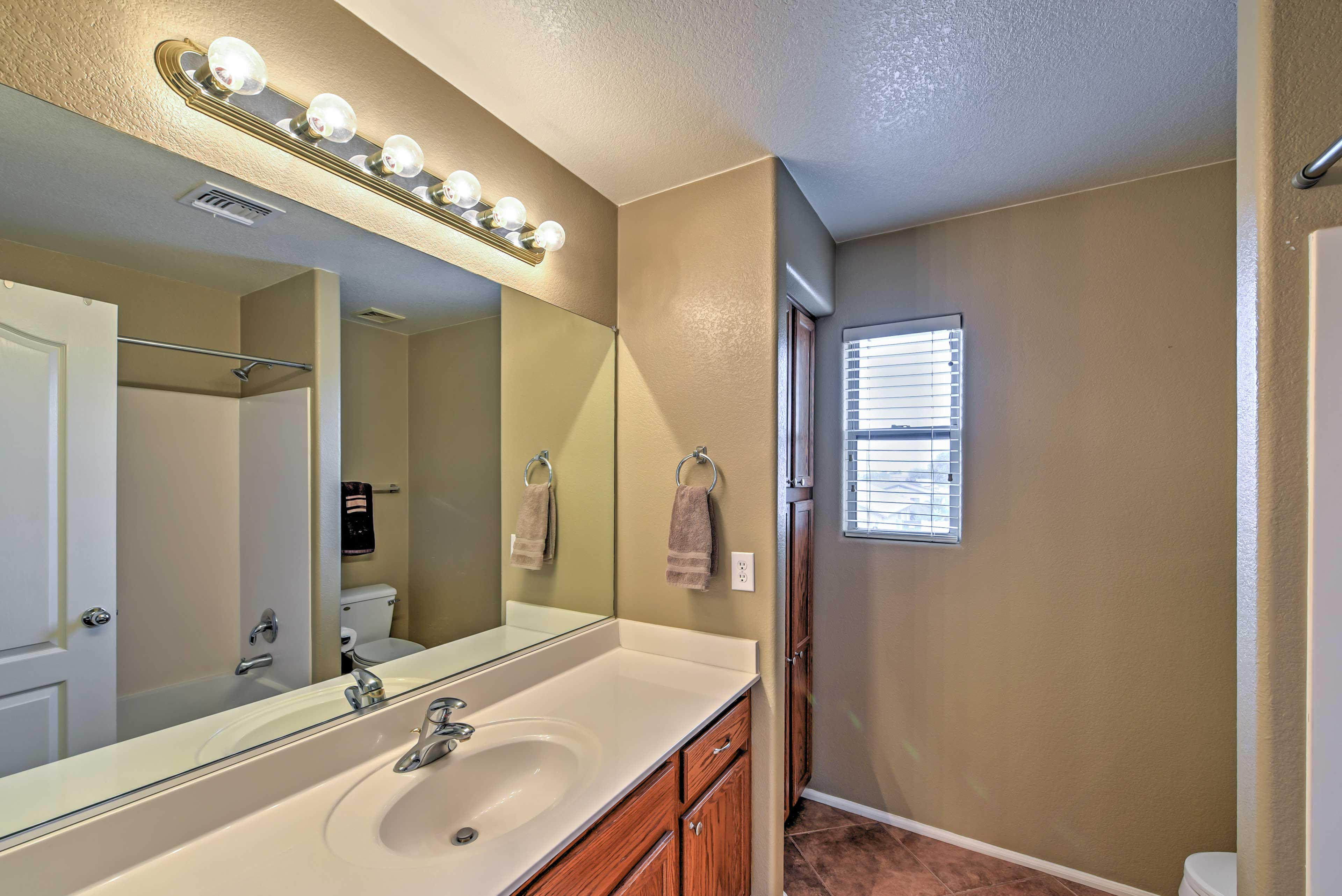 The home offers 2.5 baths.