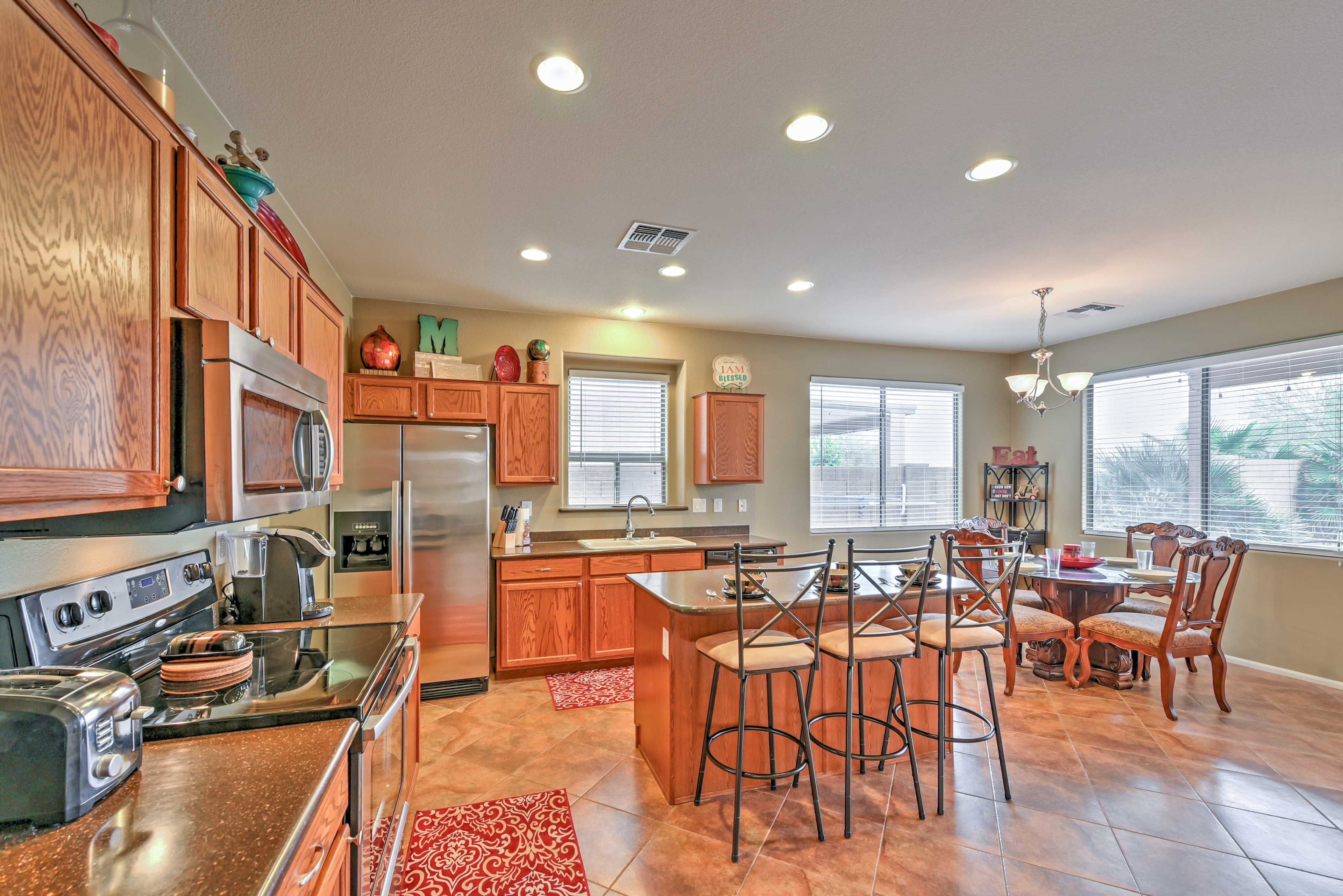 Make all of your meals in the expansive kitchen.