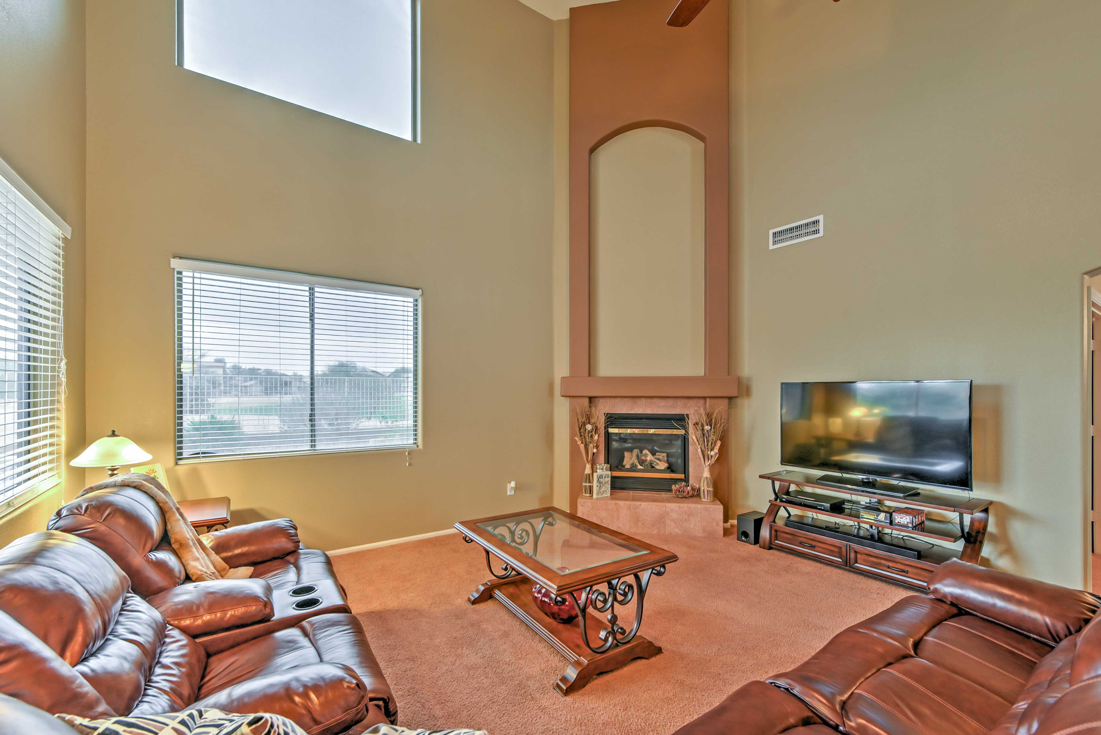 All 8 guests in your travel group can kick back and relax in the living room.