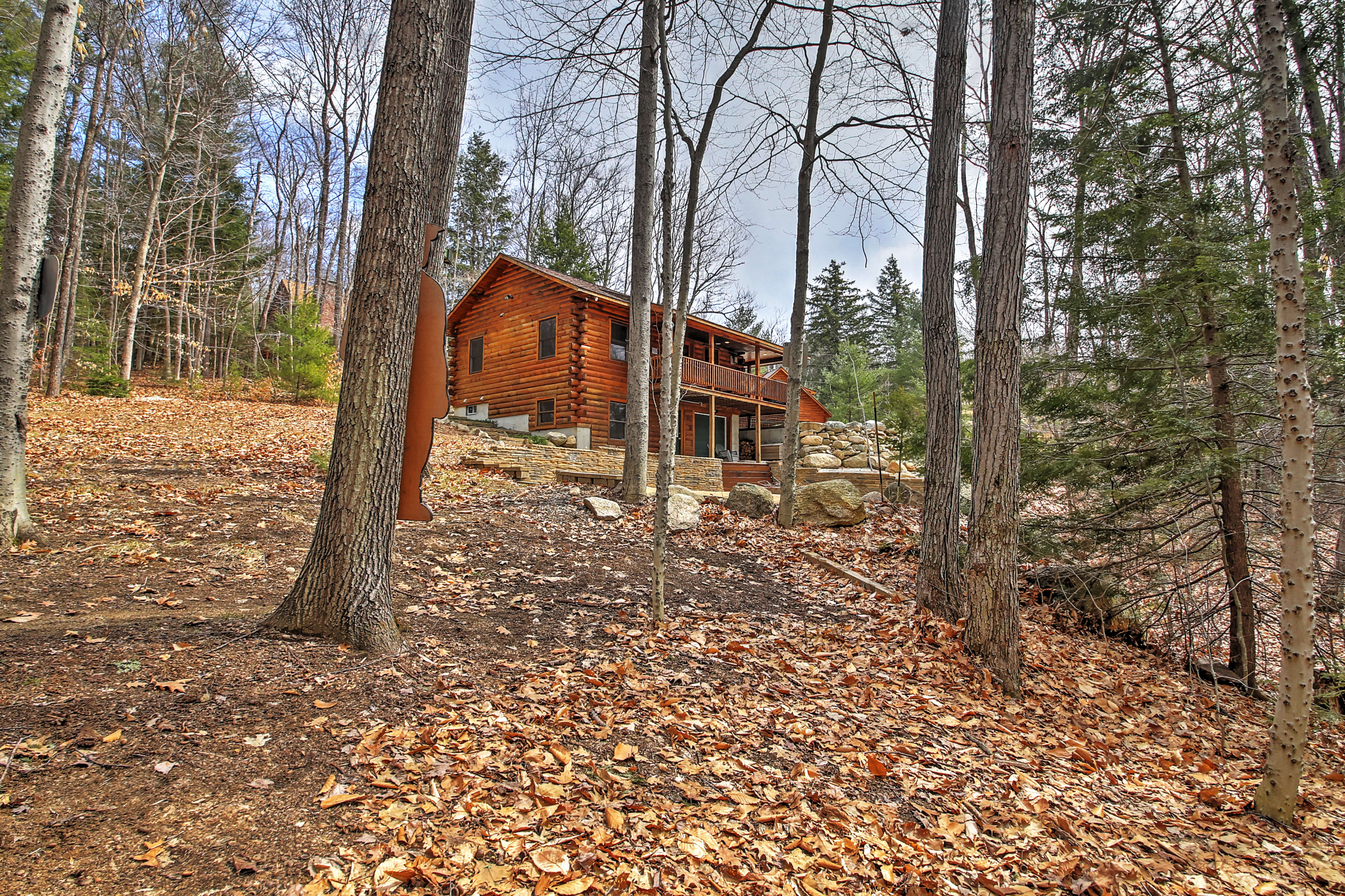 You will love the gorgeous wooded scenery surrounding the property!