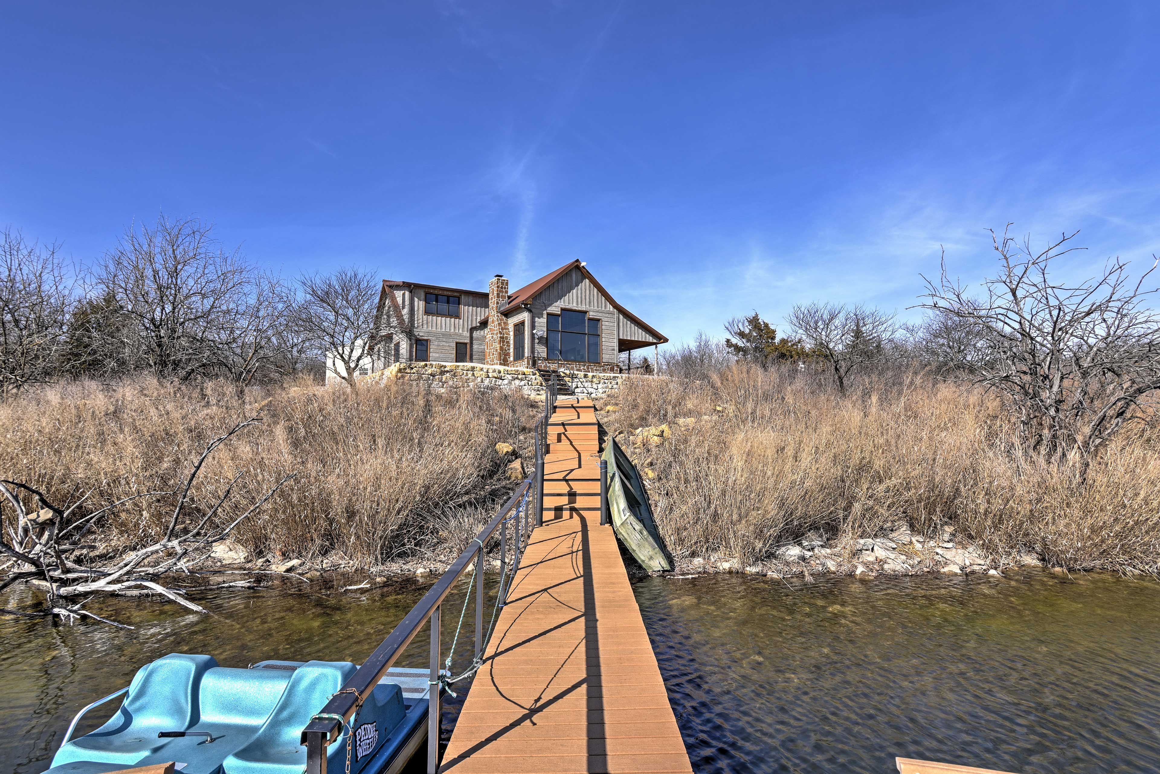 You can't beat the peace and quiet this southern Wichita property offers.