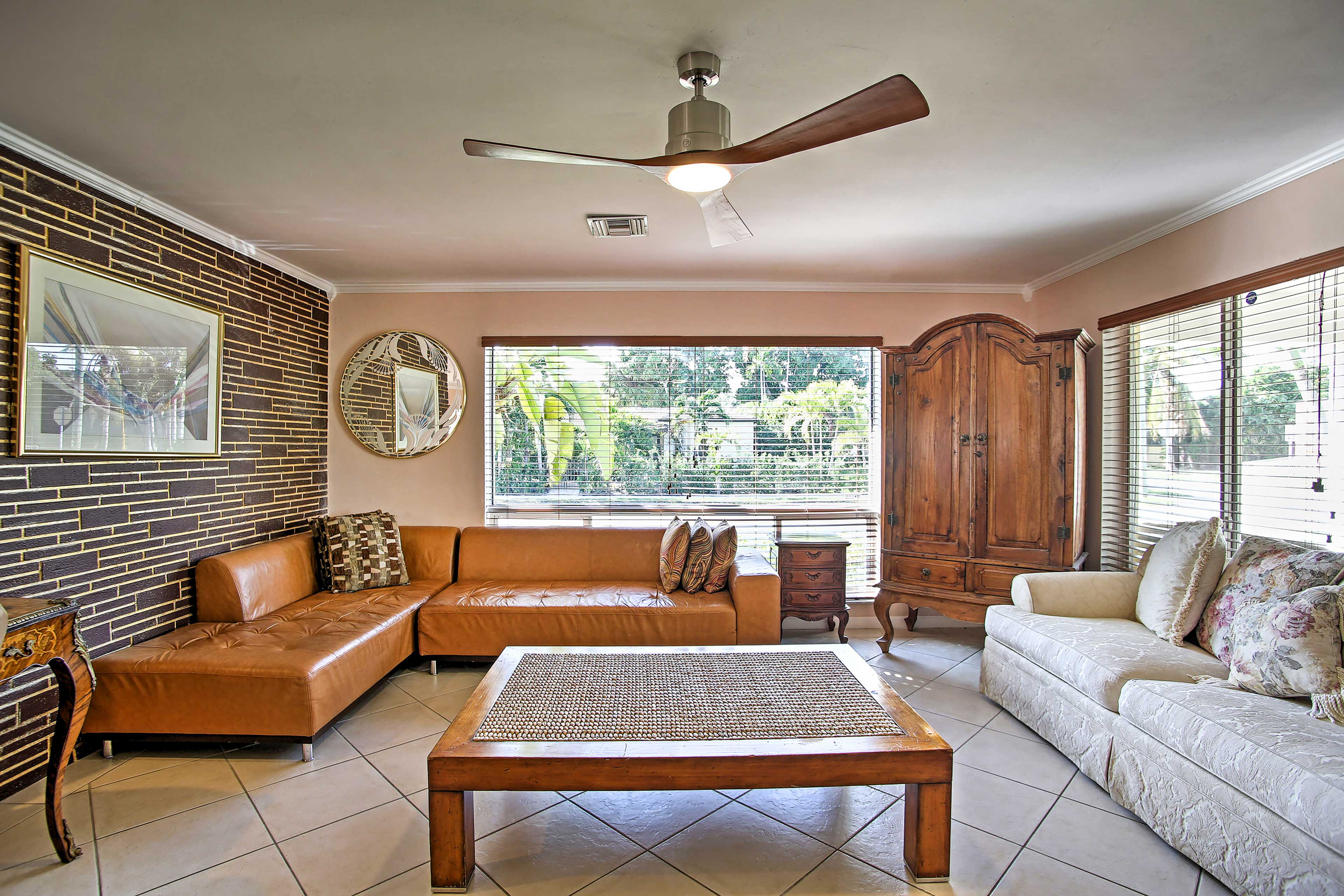 Relax in the spacious living room, which offers ample seating.
