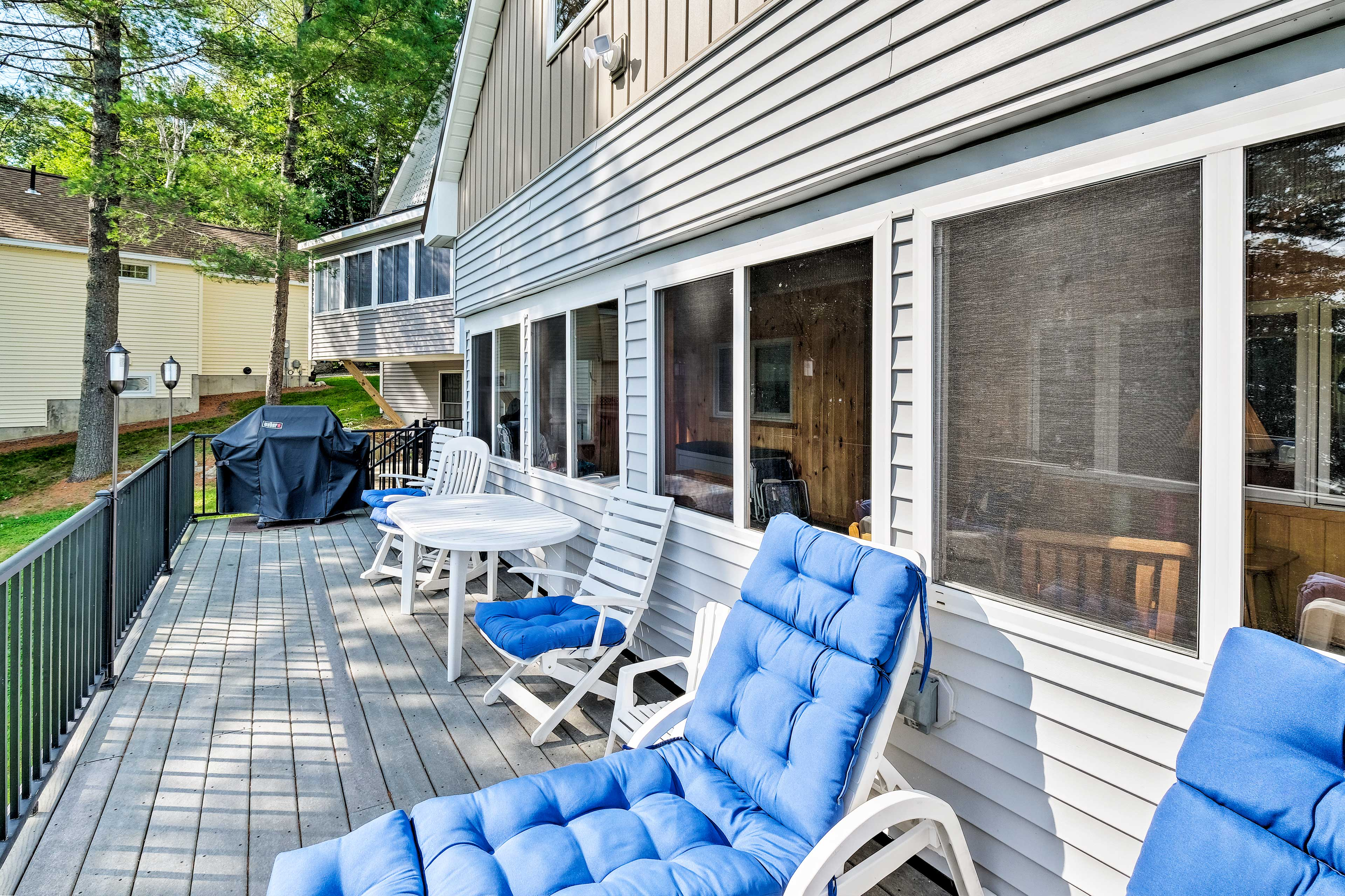 Get some fresh air out on the deck.