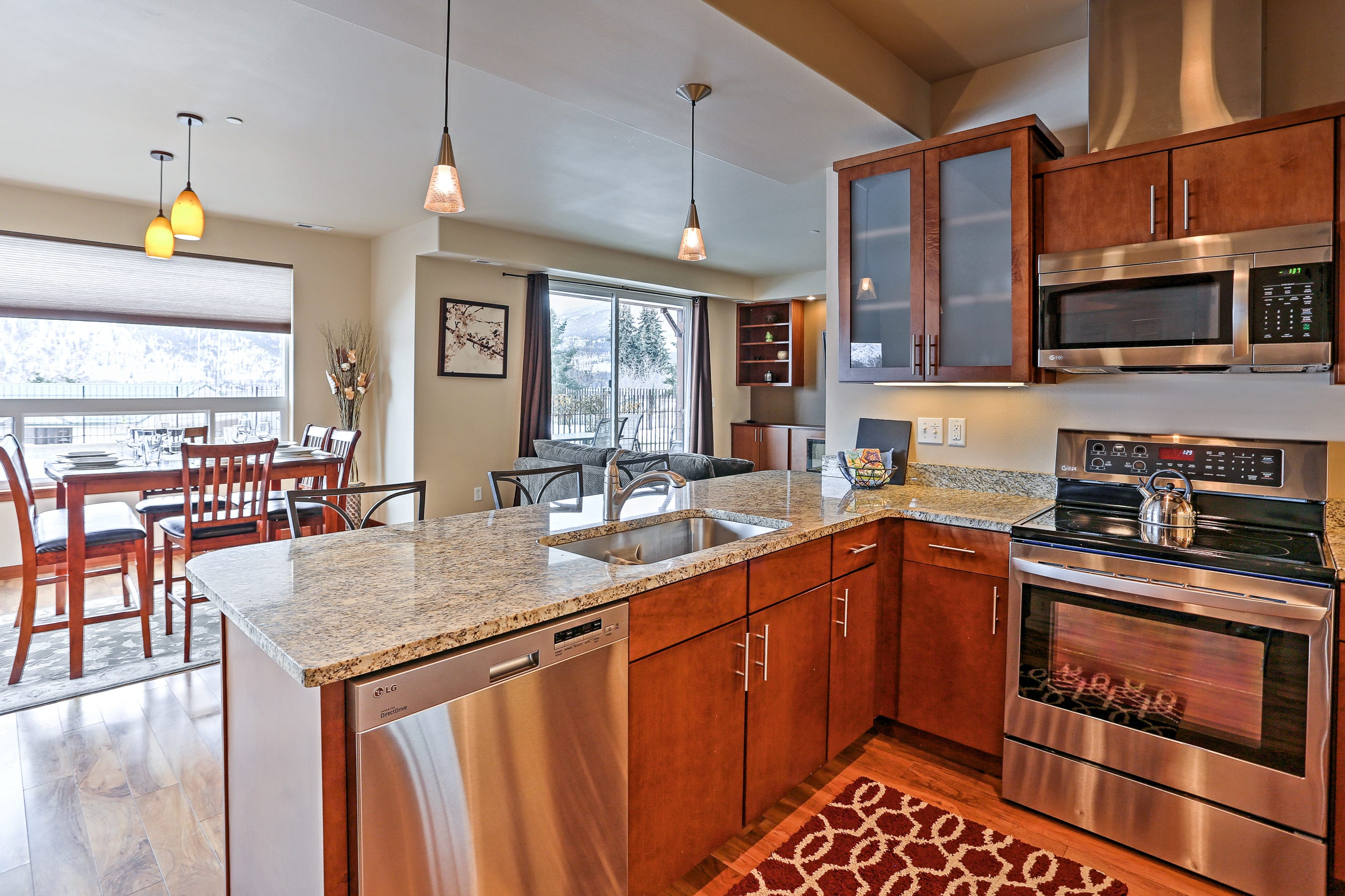 You'll love the open layout of this bright property.