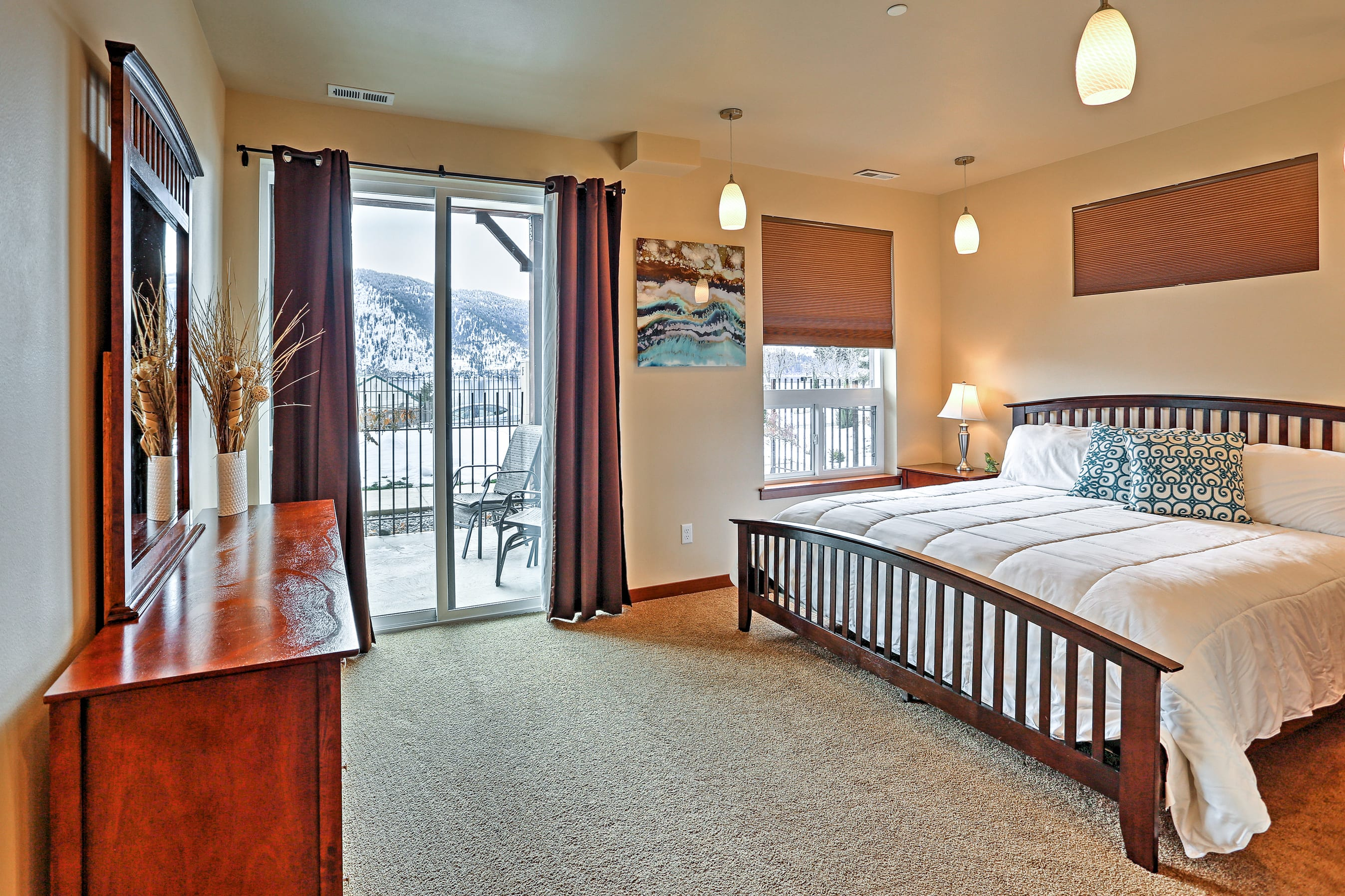 Enjoy magnificent views from the Master Bedroom!