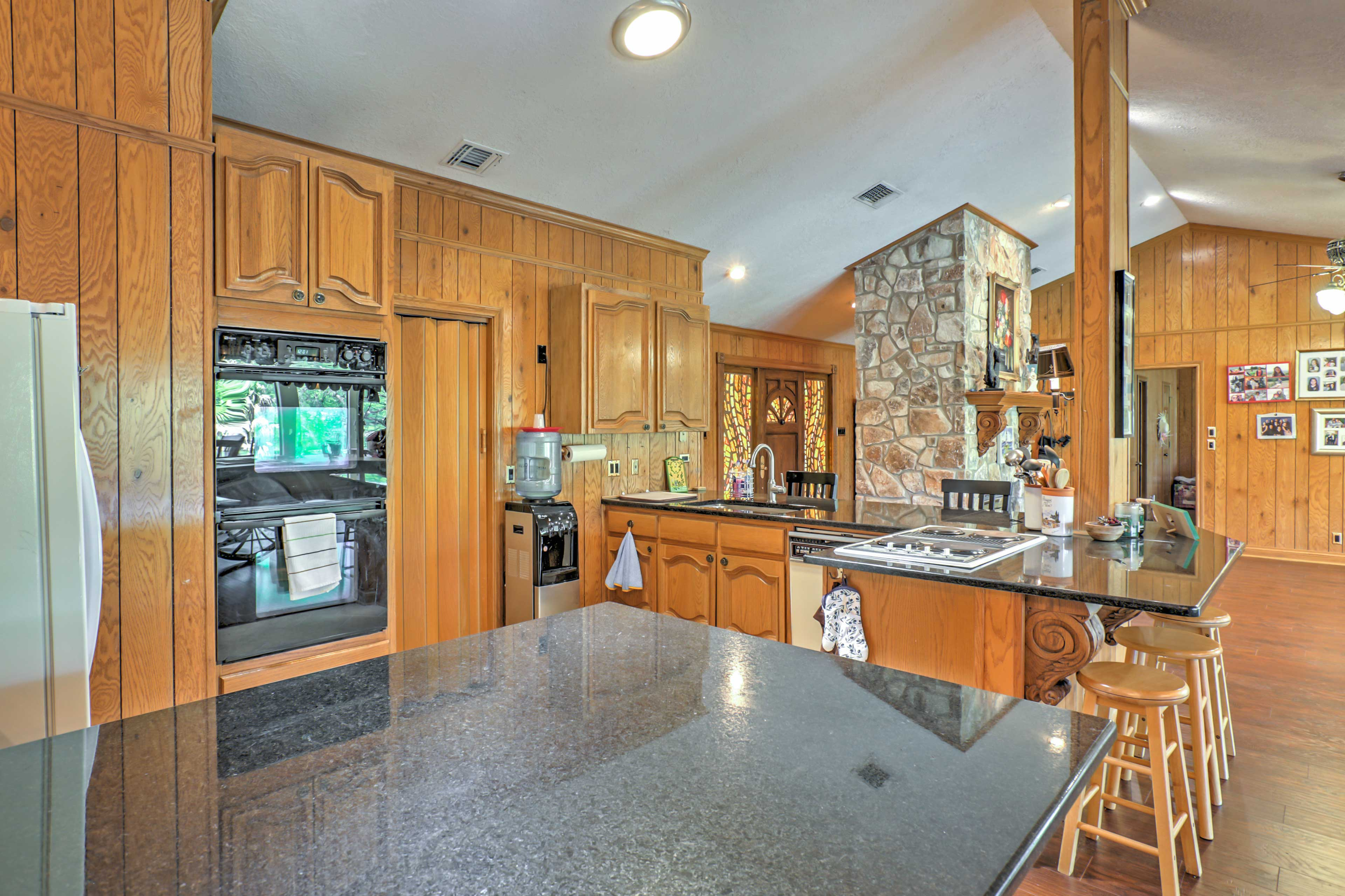 There's ample counter space in the kitchen!