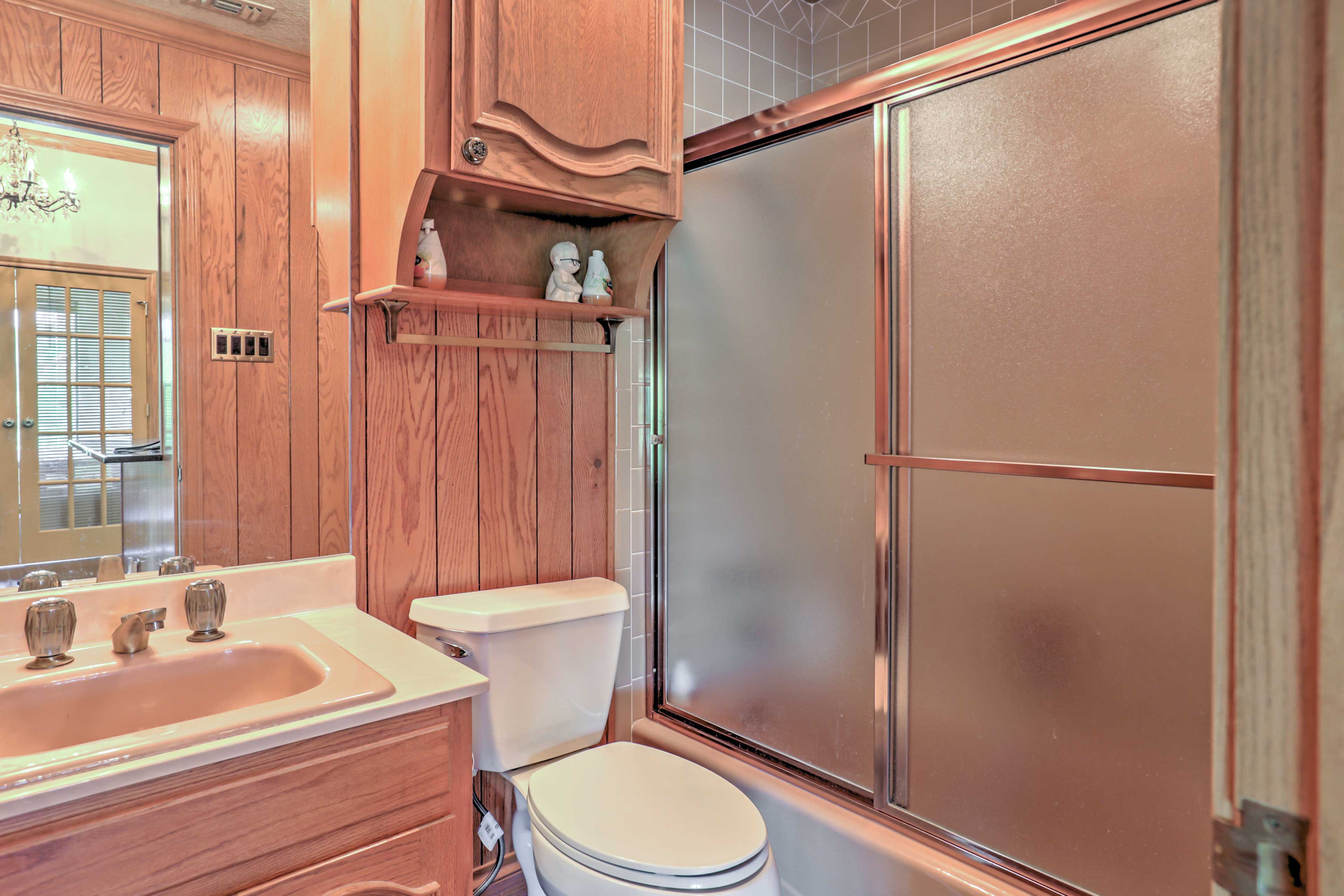 This home features 3 bathrooms for guests to use throughout their stay.