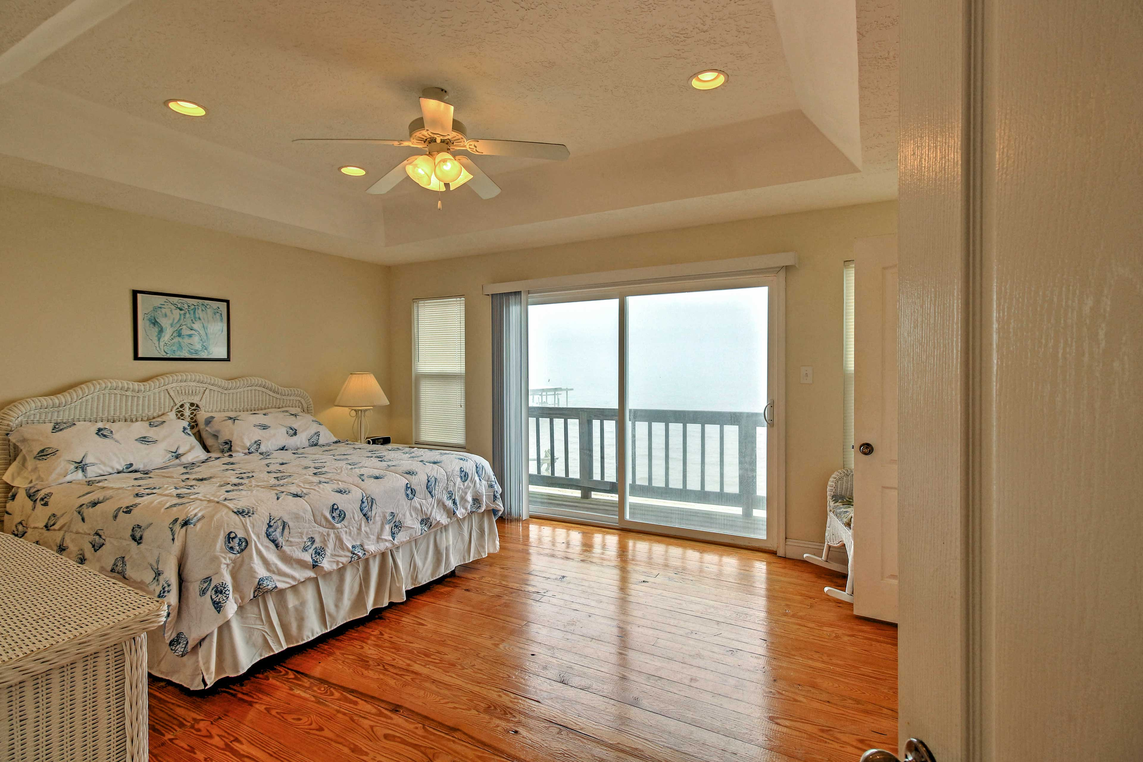 Retreat to the master suite, offering stunning views and serenity.