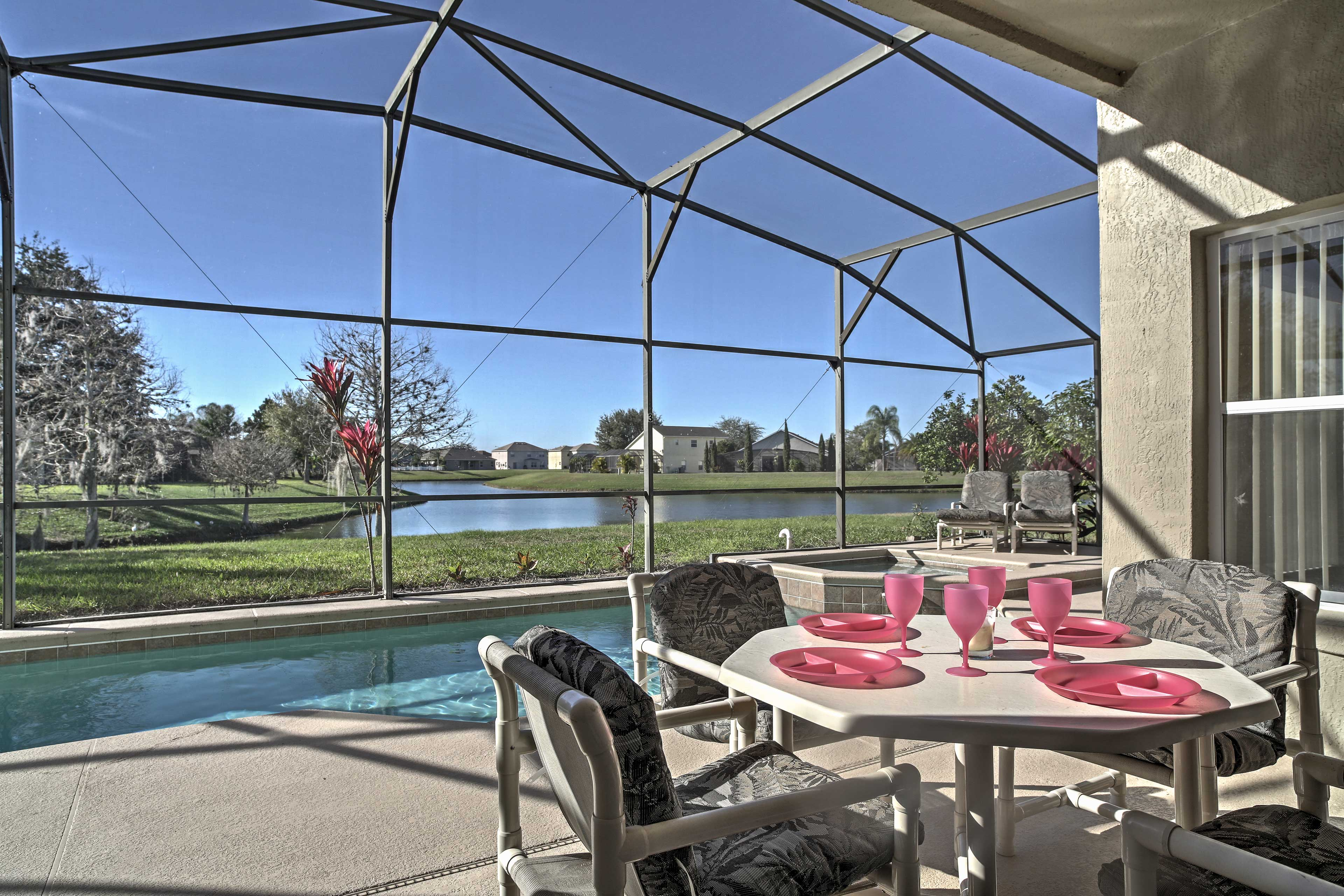 This 4-bed, 3-bath vacation rental house offers the ultimate Kissimmee getaway!