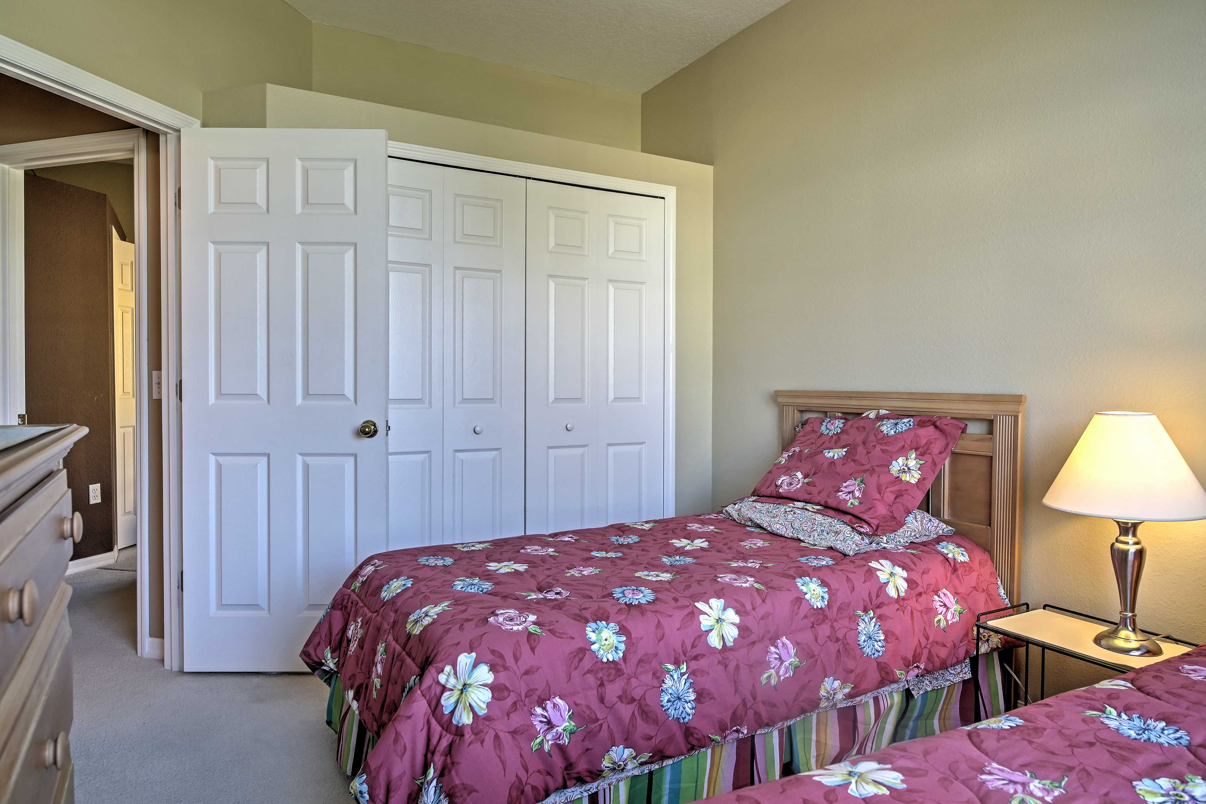 This bedroom with 2 twin-sized beds is the ideal room for kids.