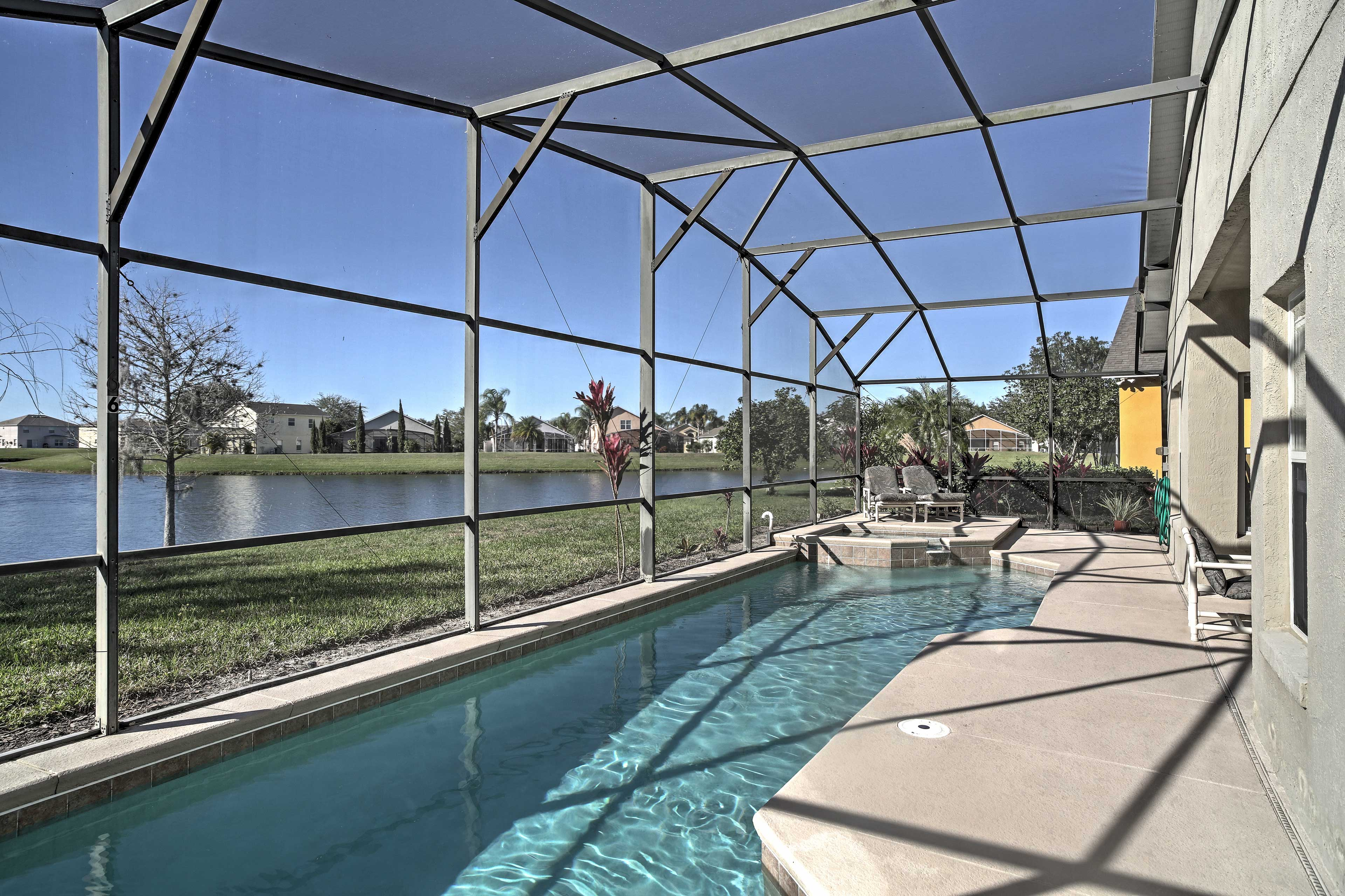 The pool can be heated for an additional nightly fee that's paid pre-trip.