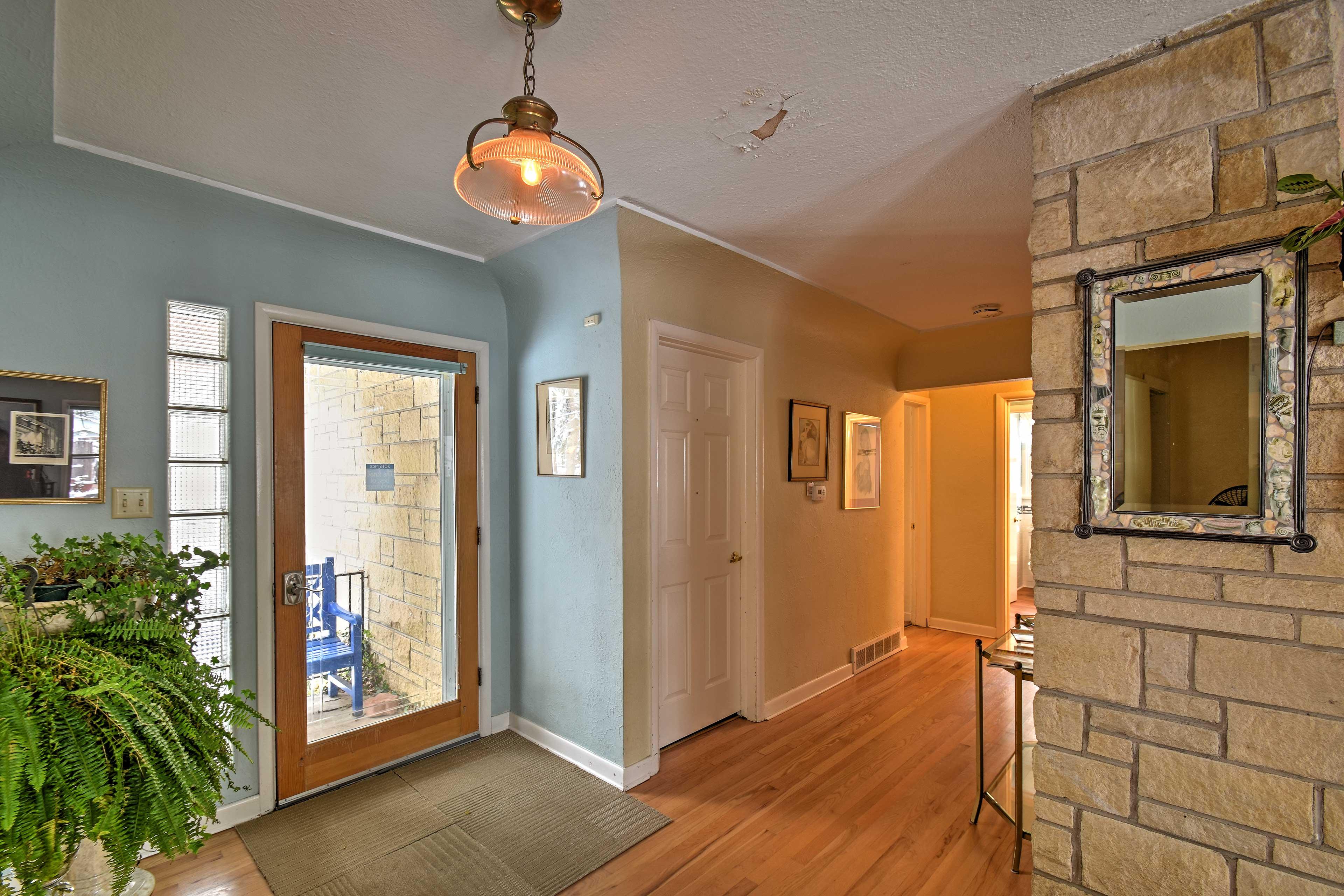 Beautiful hardwood floors line all the common living areas.