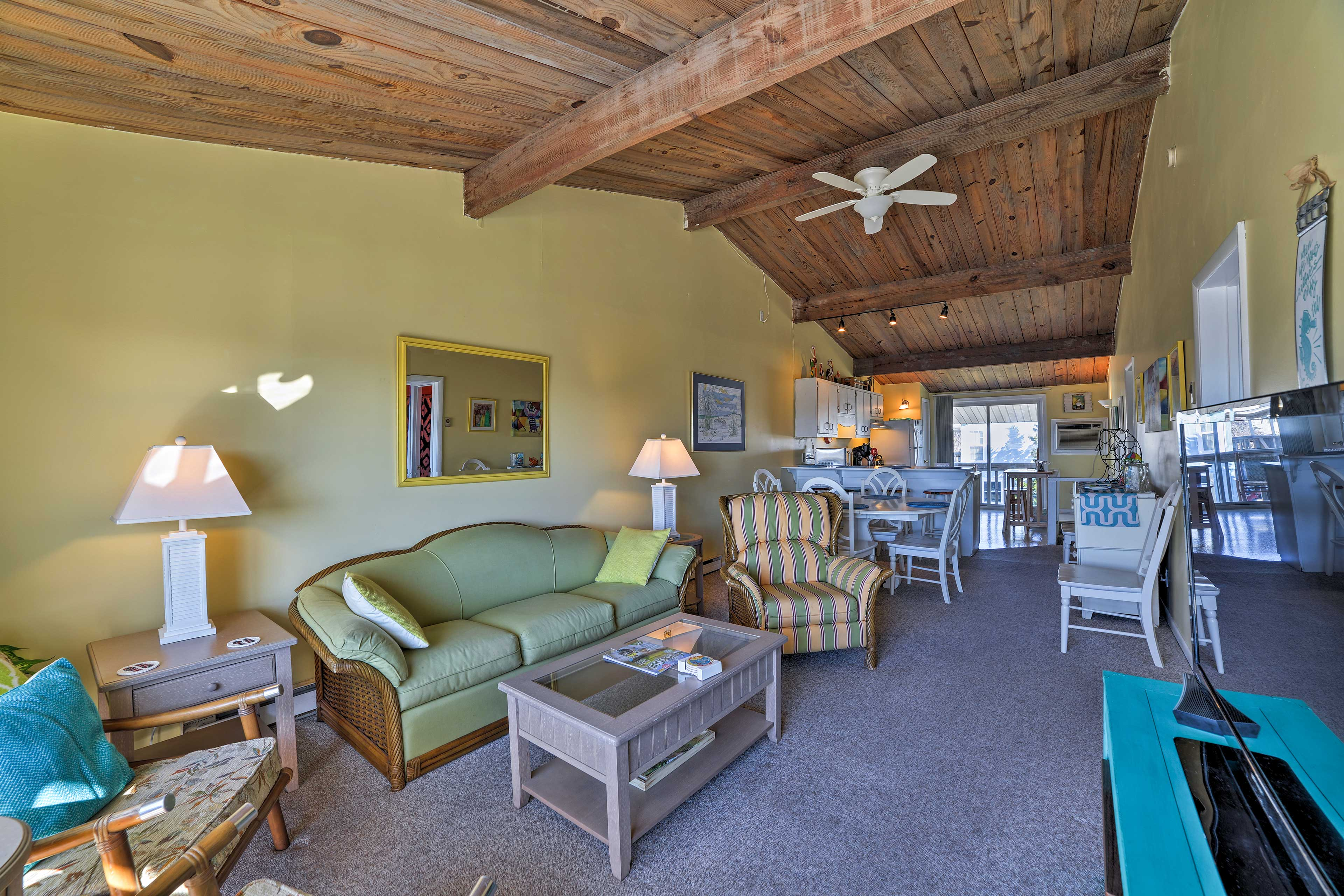 A rejuvenating retreat awaits at this lovely Atlantic Beach vacation rental home.