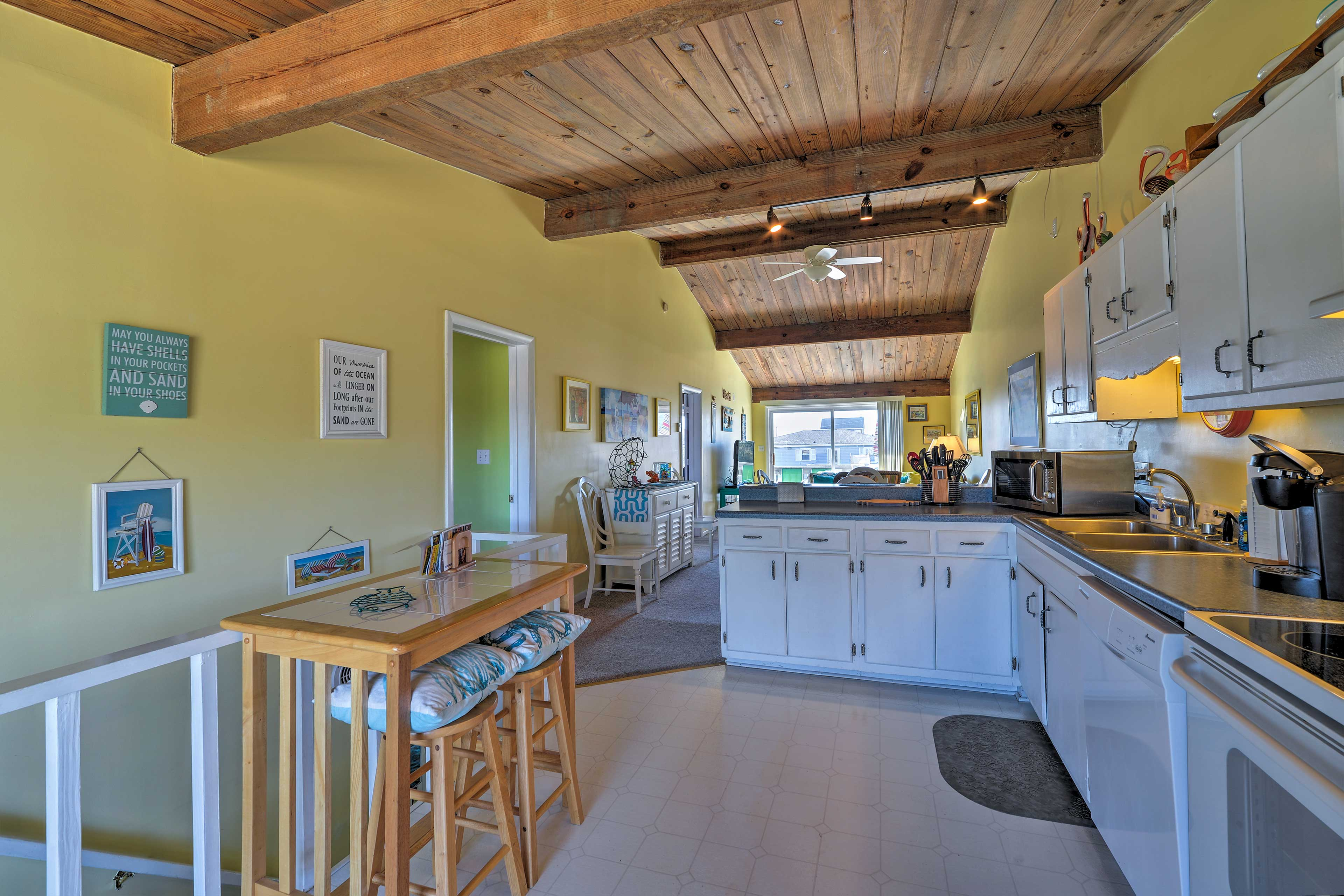 Extra stools and prep space will make cooking a breeze!