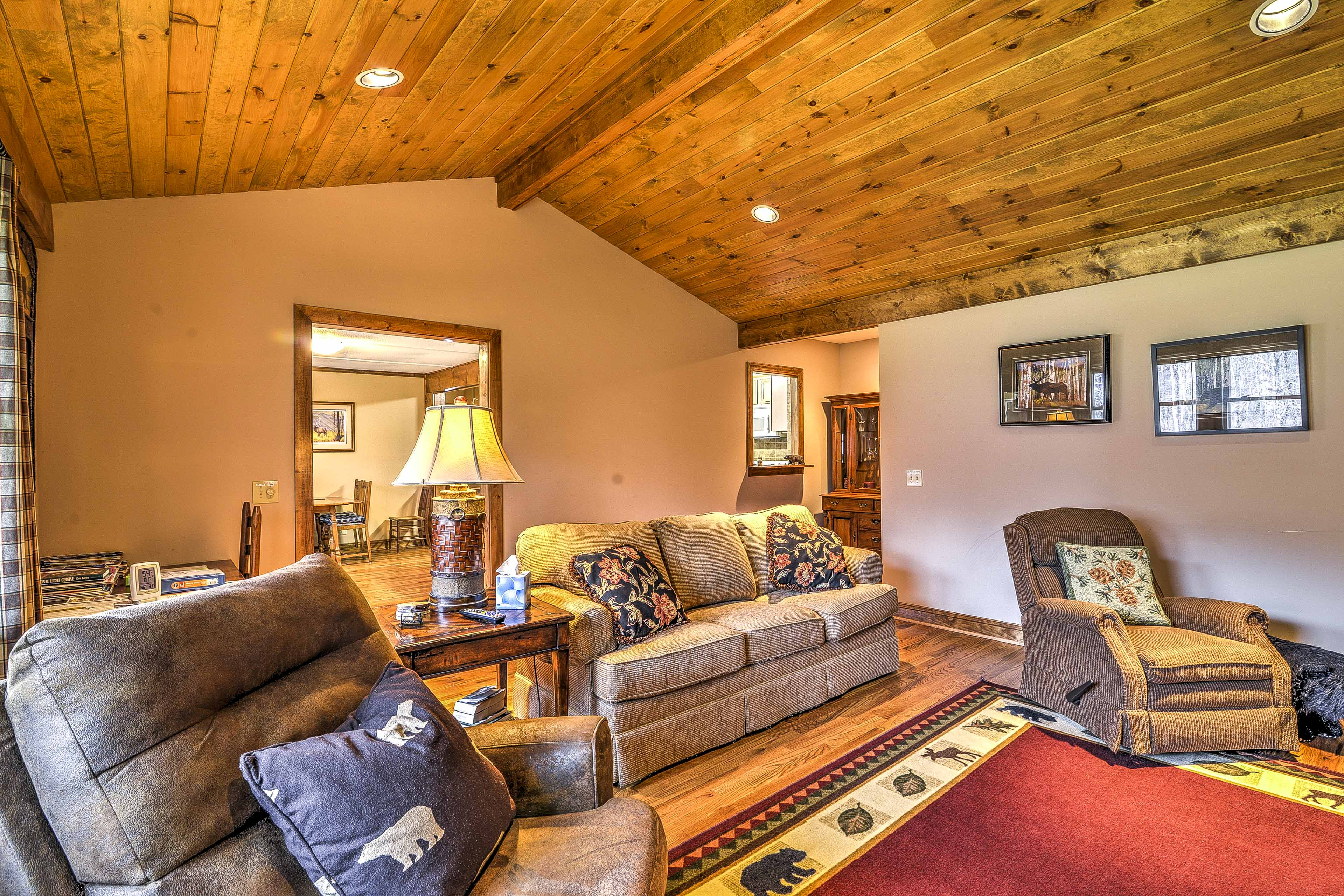 You're sure to love the high wooden ceilings.