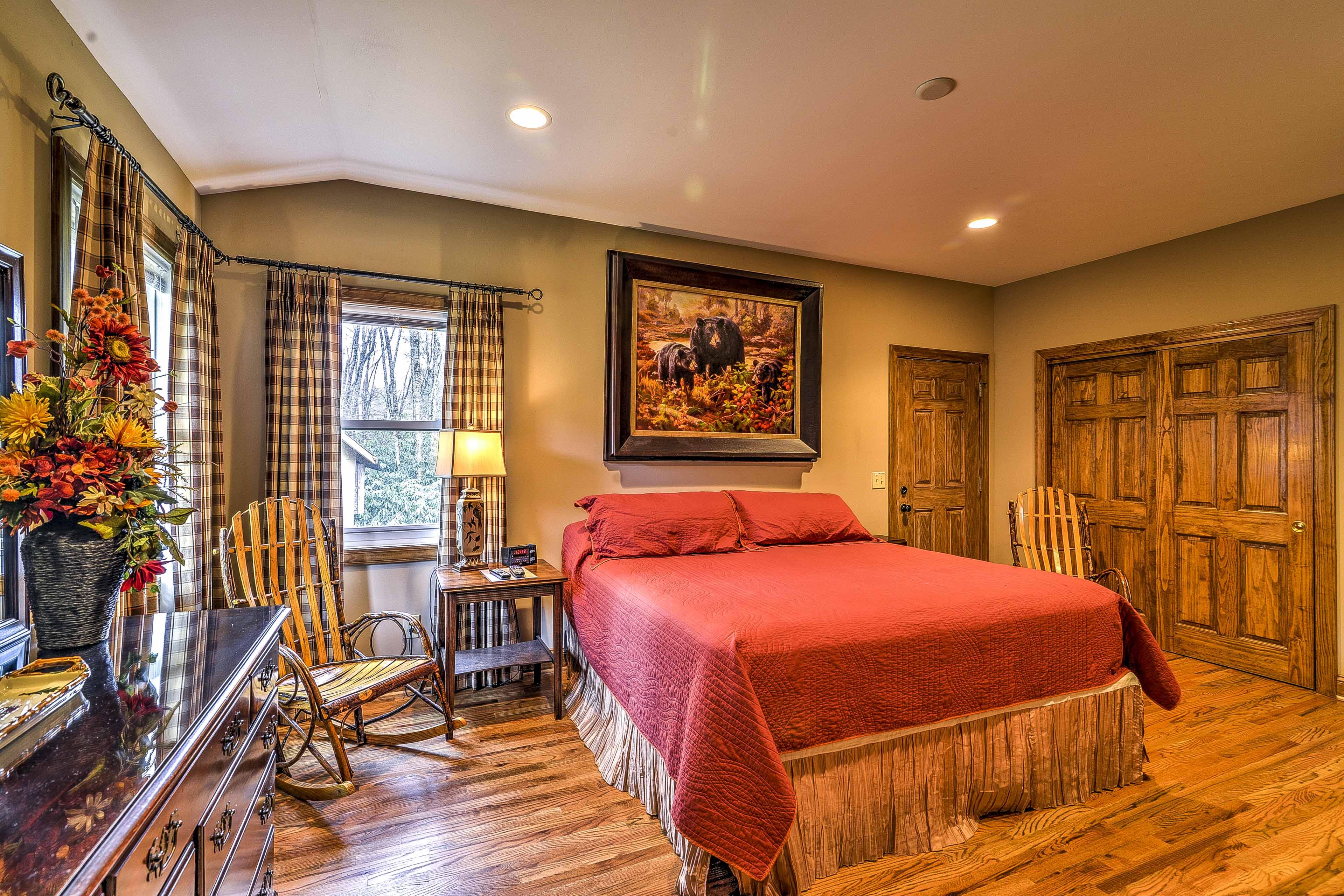 Unwind in this spacious master suite.