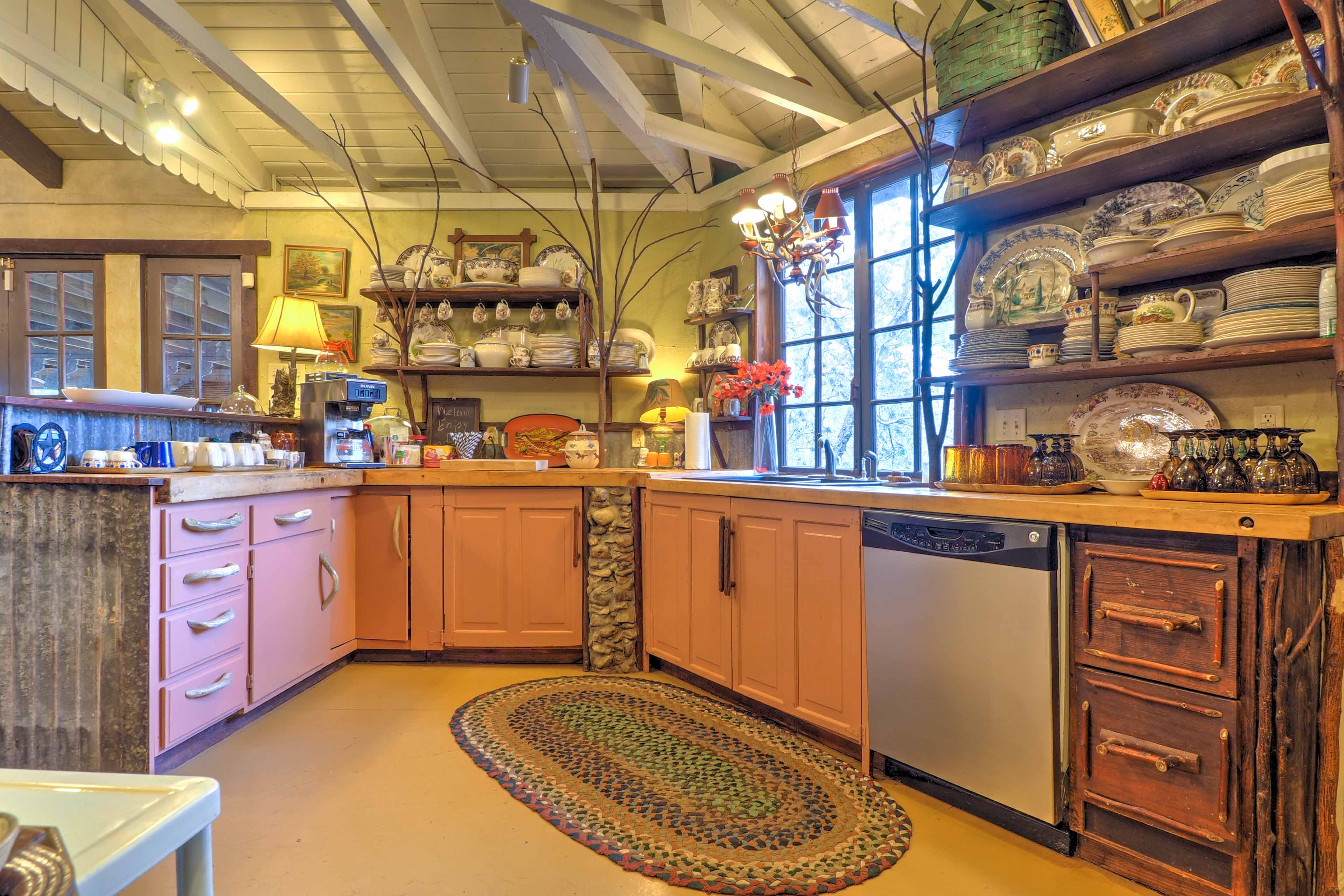 The fully equipped kitchen is perfect for any chef.