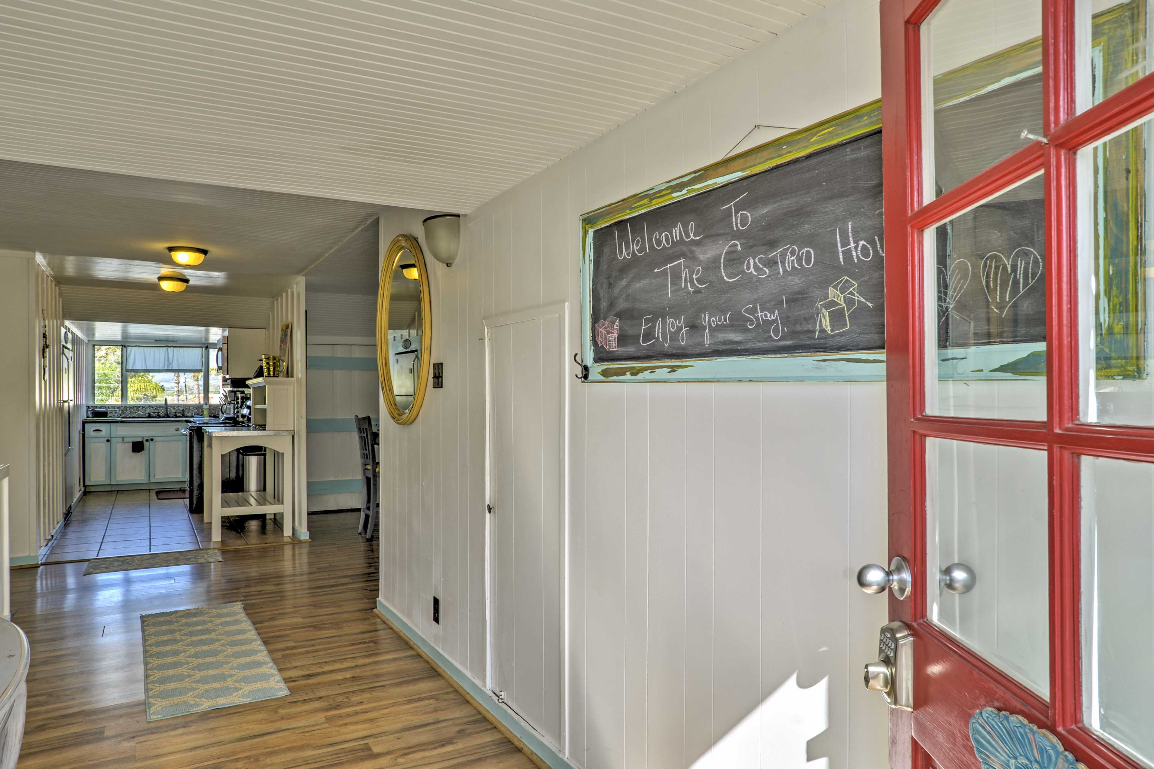 Step right inside the front door to find a well-appointed home-away-from-home.