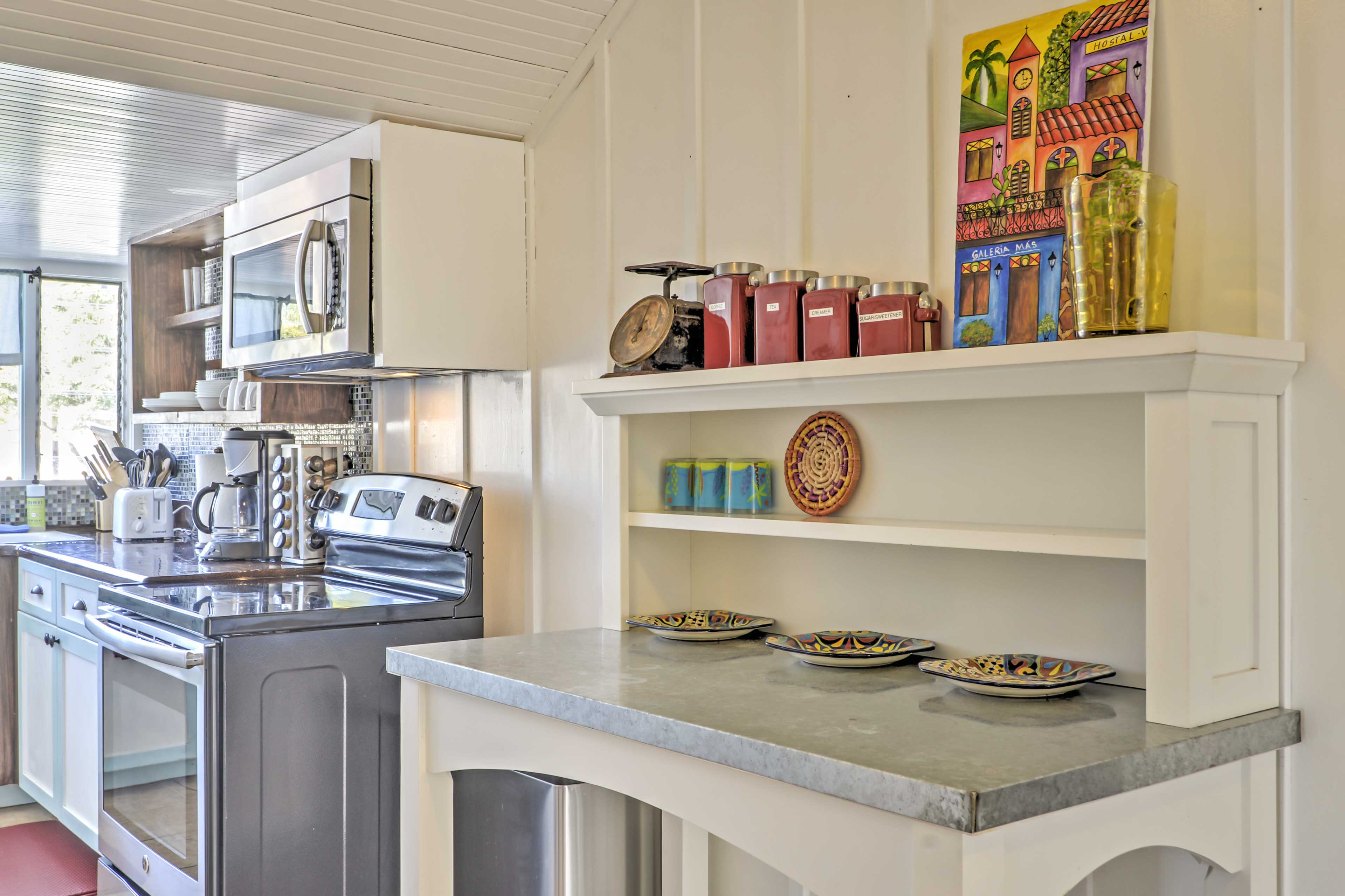 This kitchen has all the culinary essentials of home!