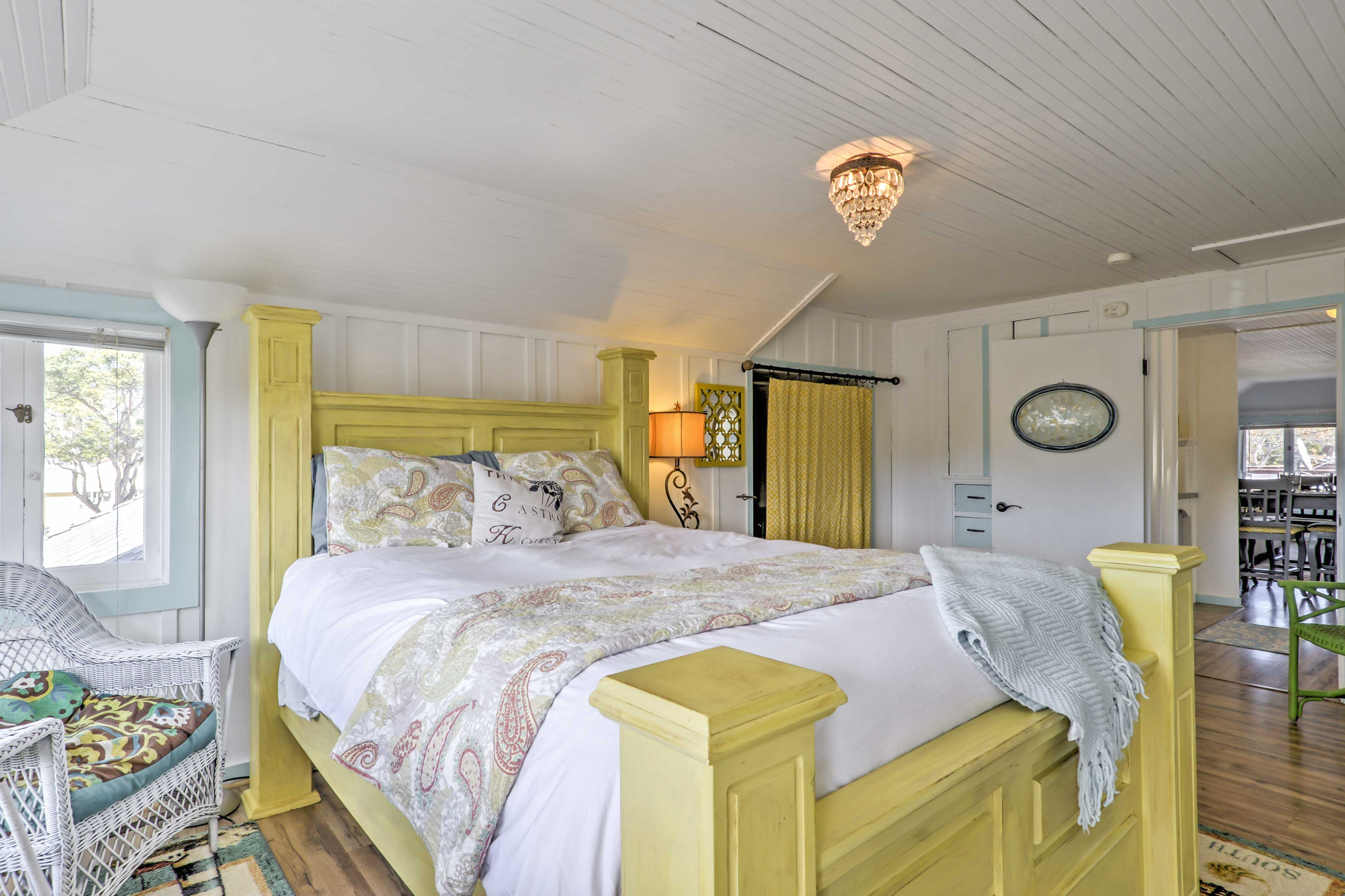 Sweet dreams will come easy in this elegantly-appointed bedroom.
