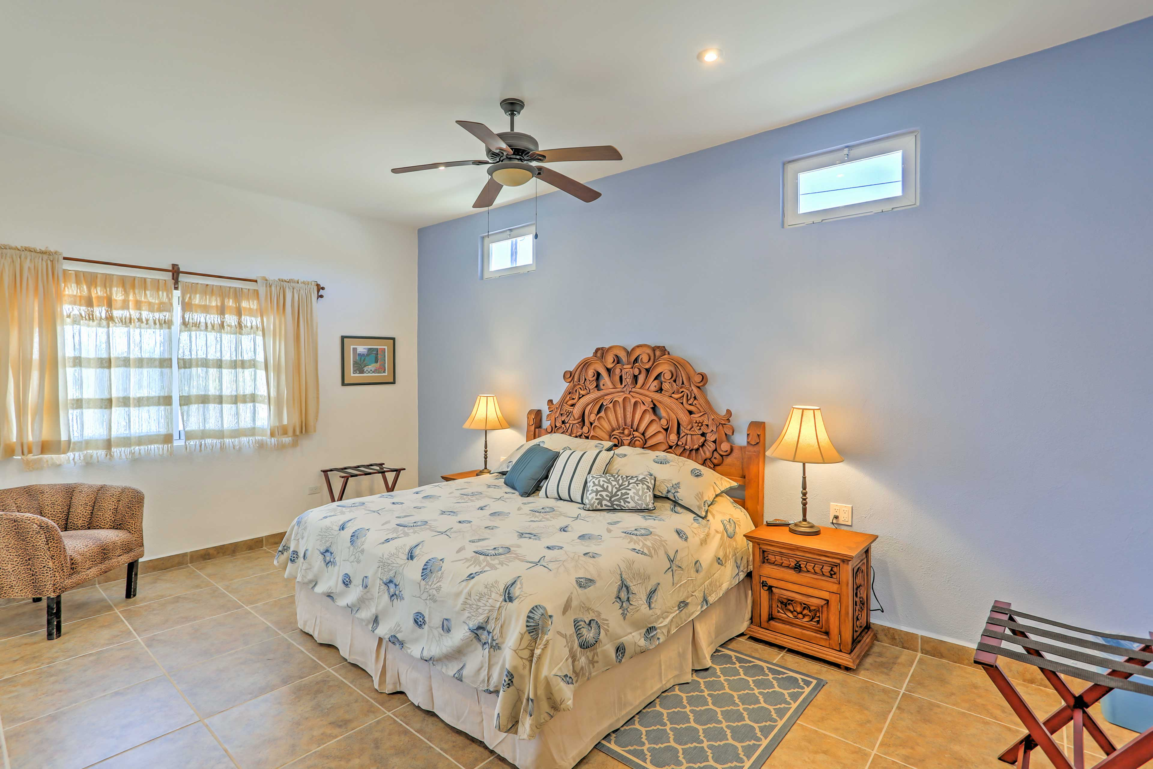 Let the ceiling fan usher you to sleep!