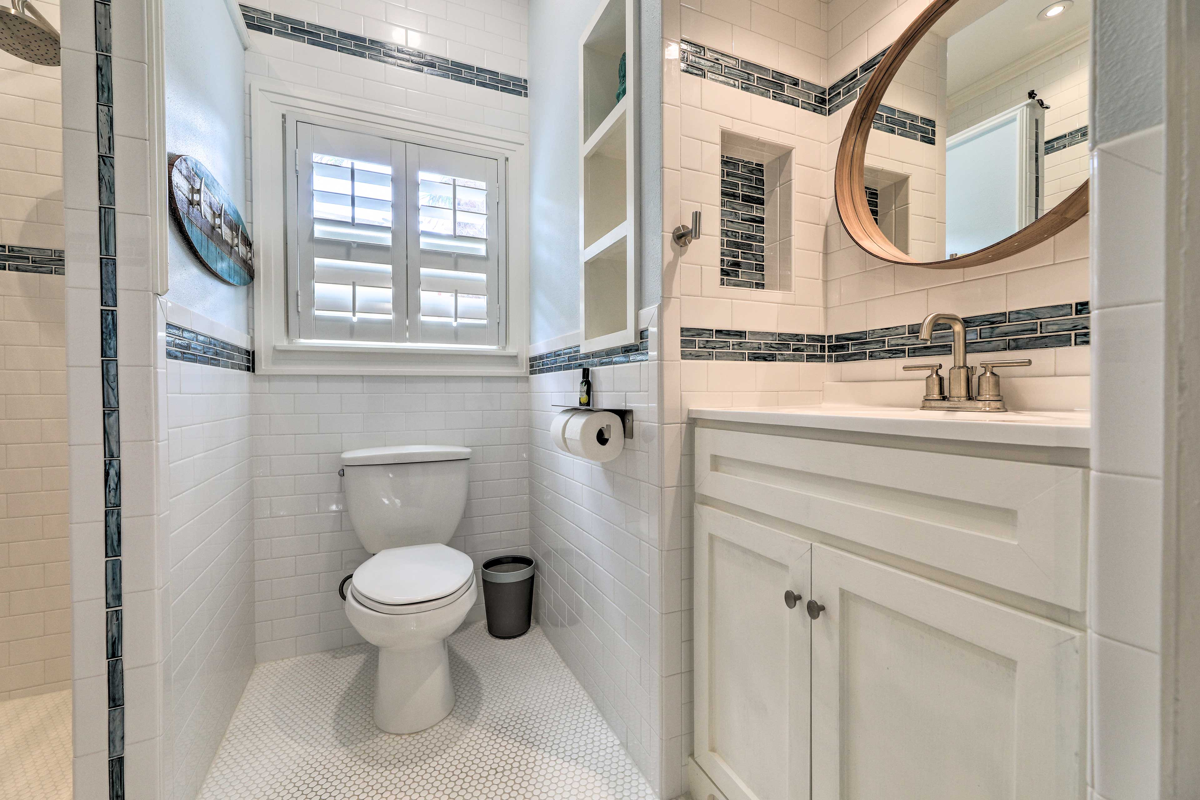 There are 2 bathrooms in this lovely home.