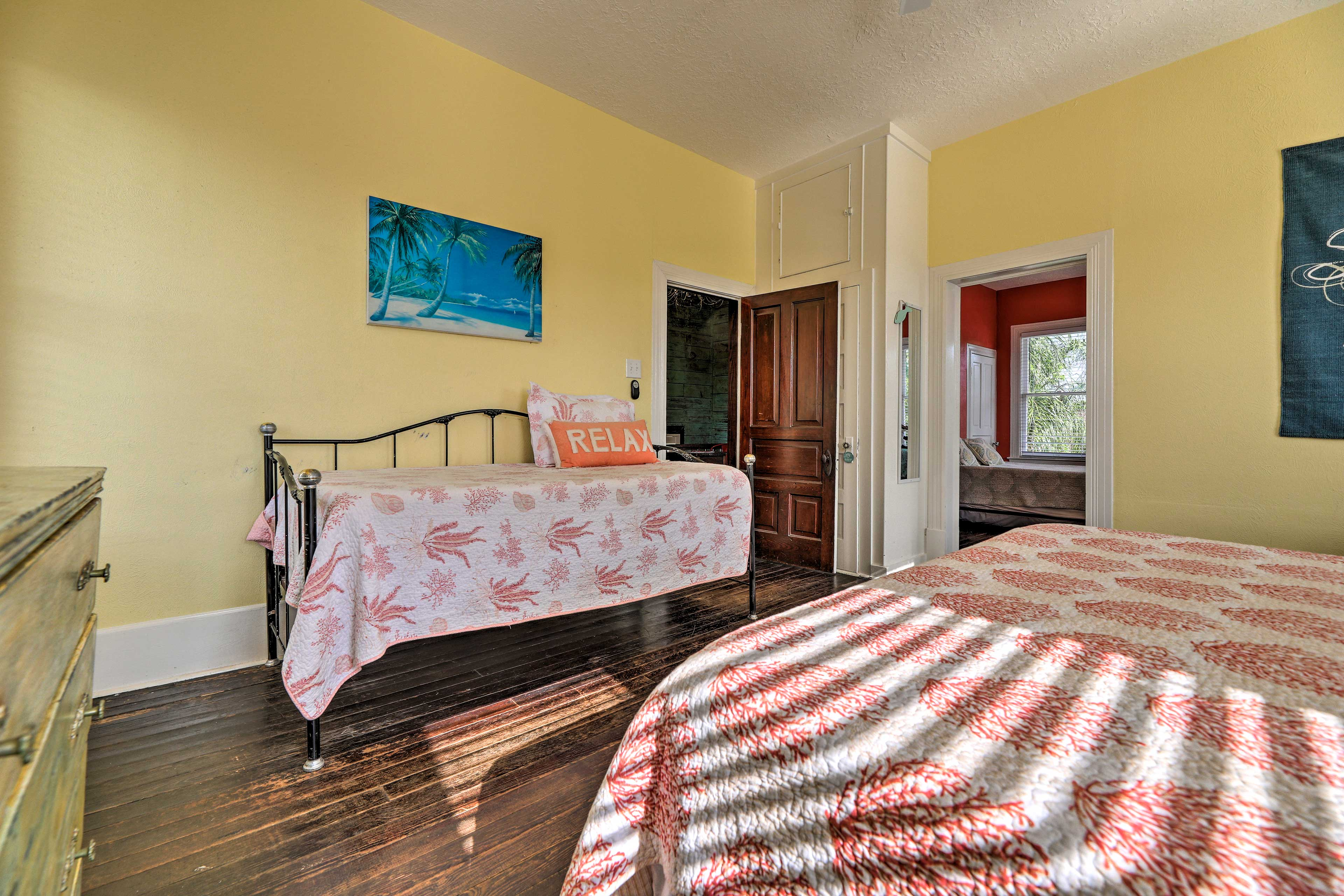 The twin bed is perfect for kids.