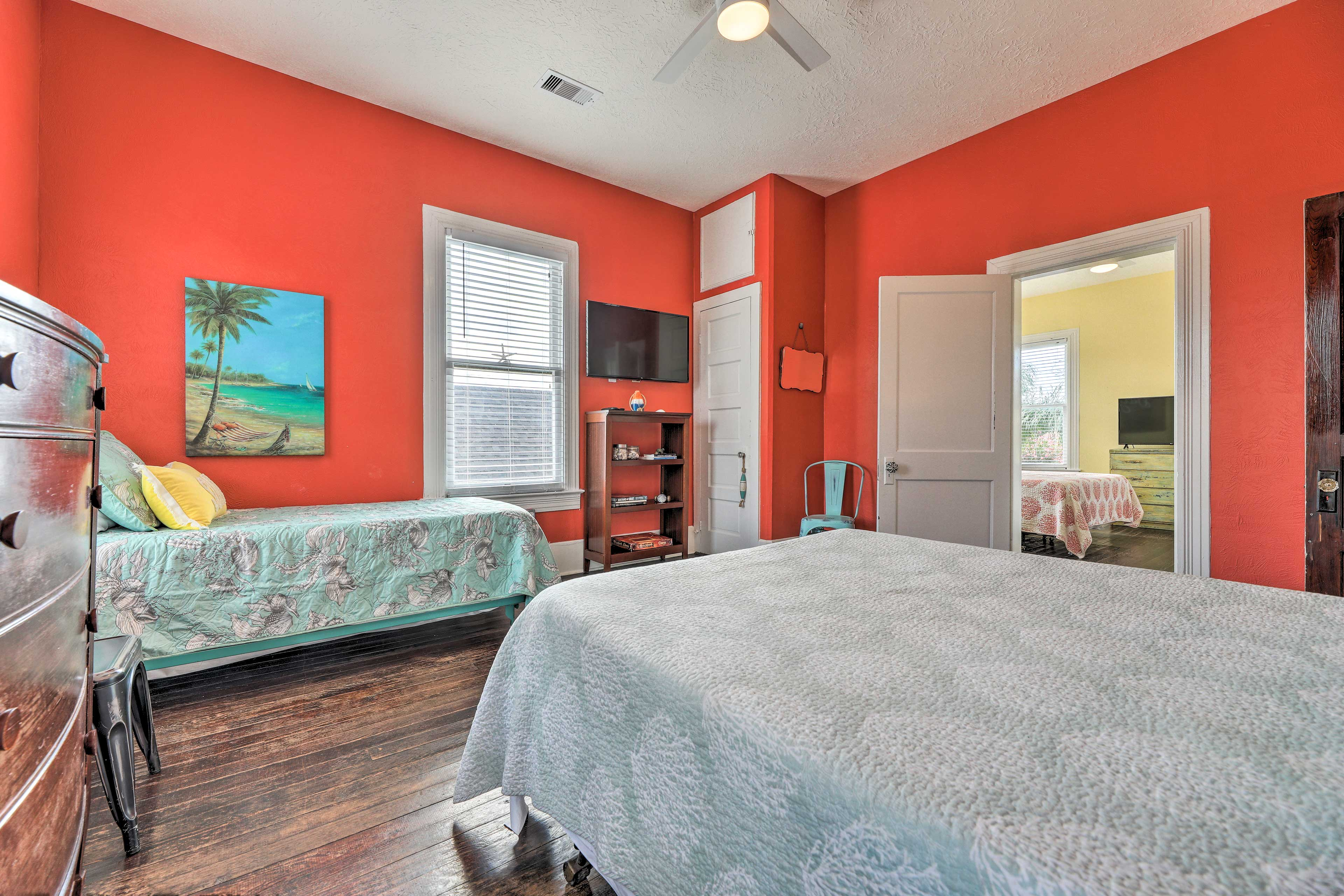 Rise and shine to plenty of natural sunlight in this bedroom.