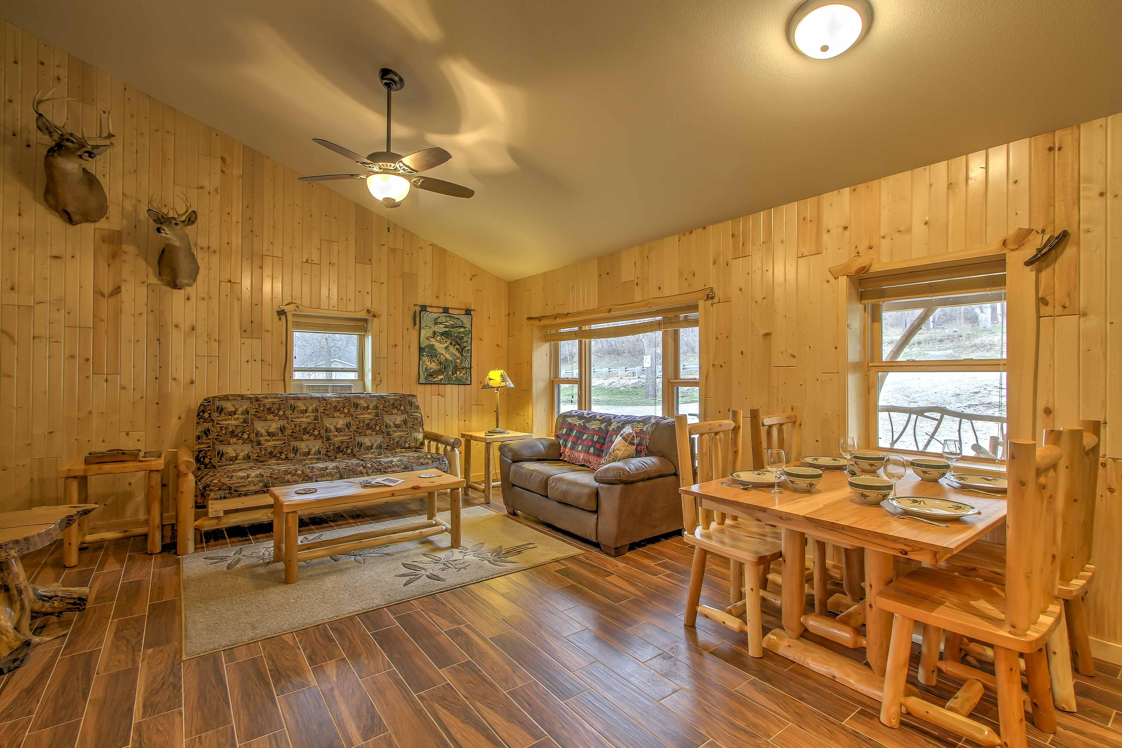 Rich hardwood floors elevate this home!