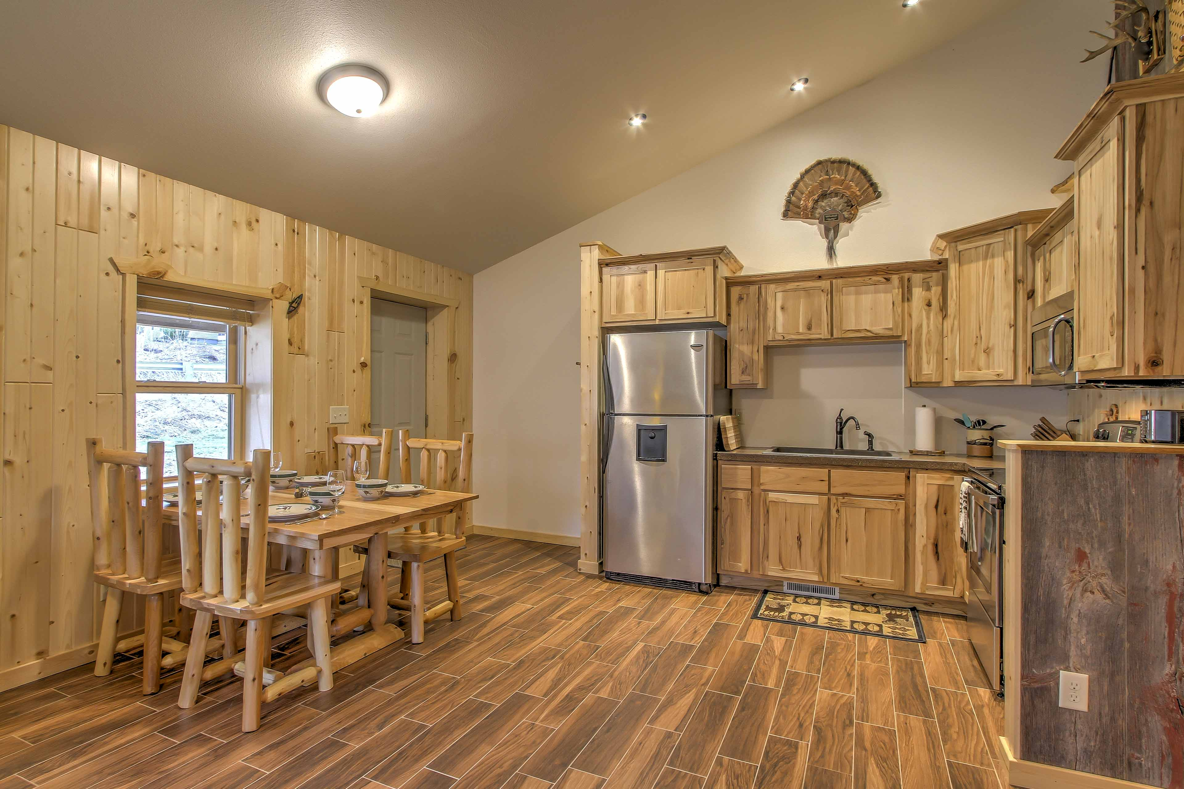 Whip up inspired couisine in the fully equipped kitchen.