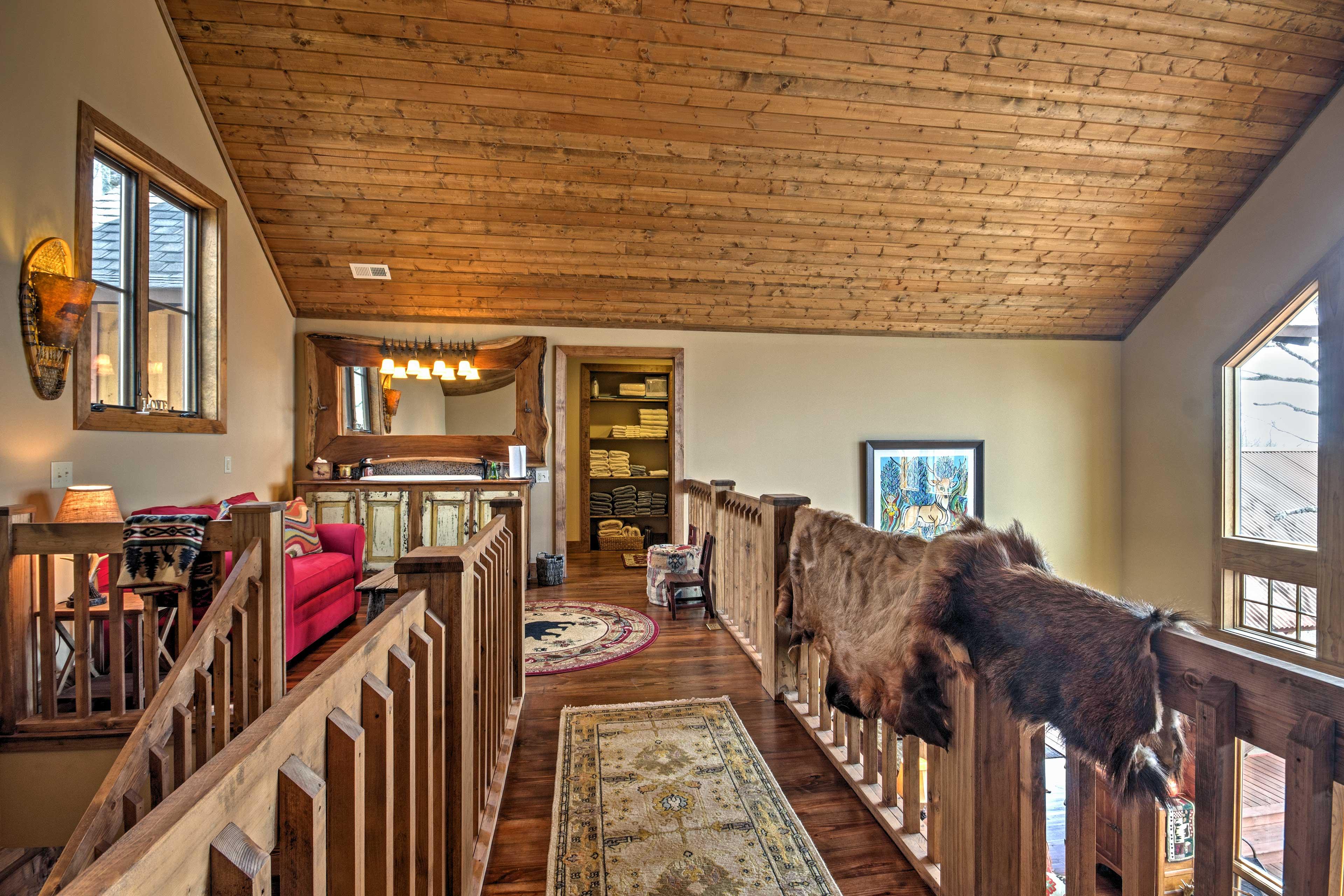 Mountain decor elevates this stunning home.
