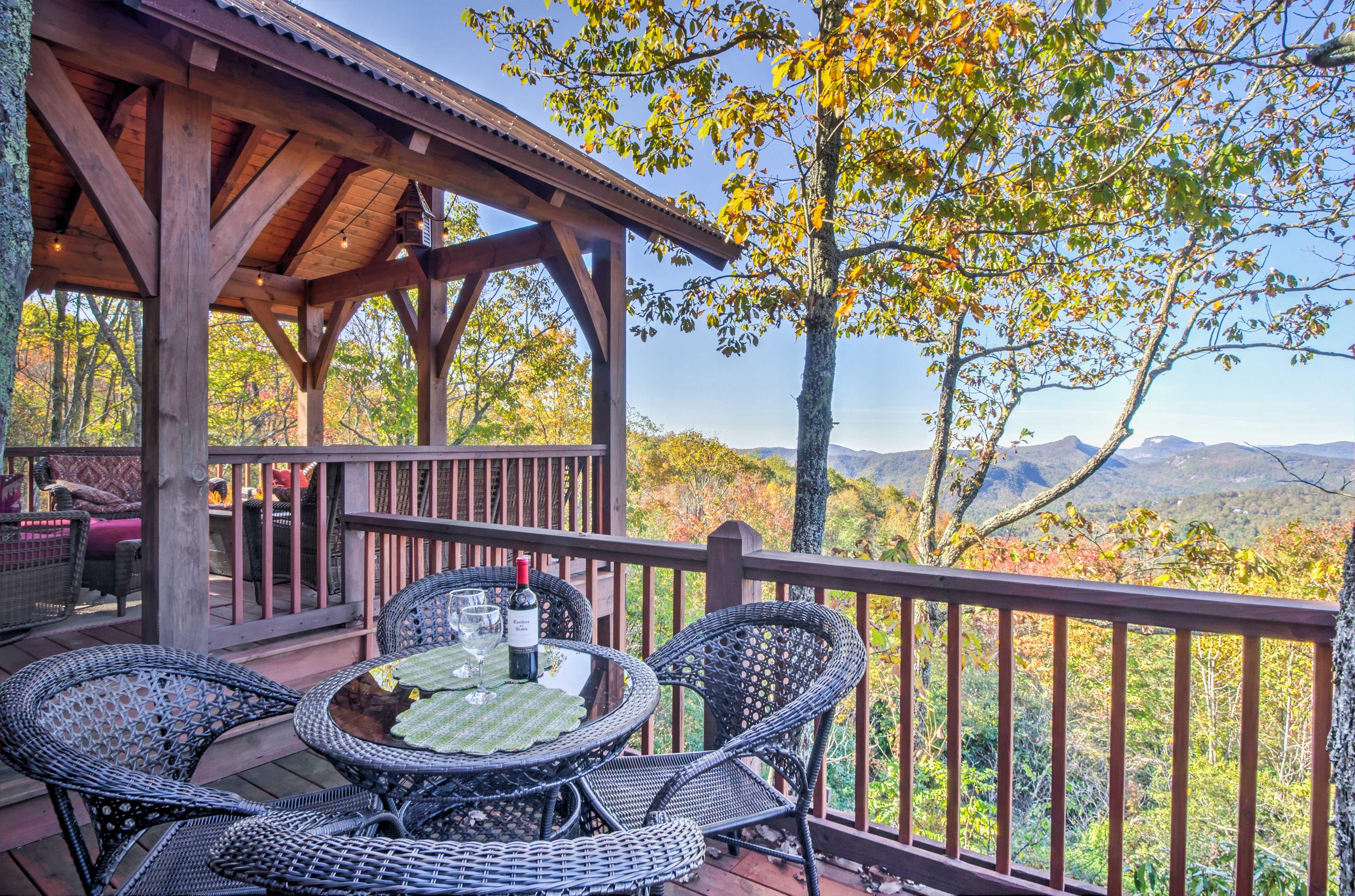 Dine al fresco on the patio with mountain vistas!