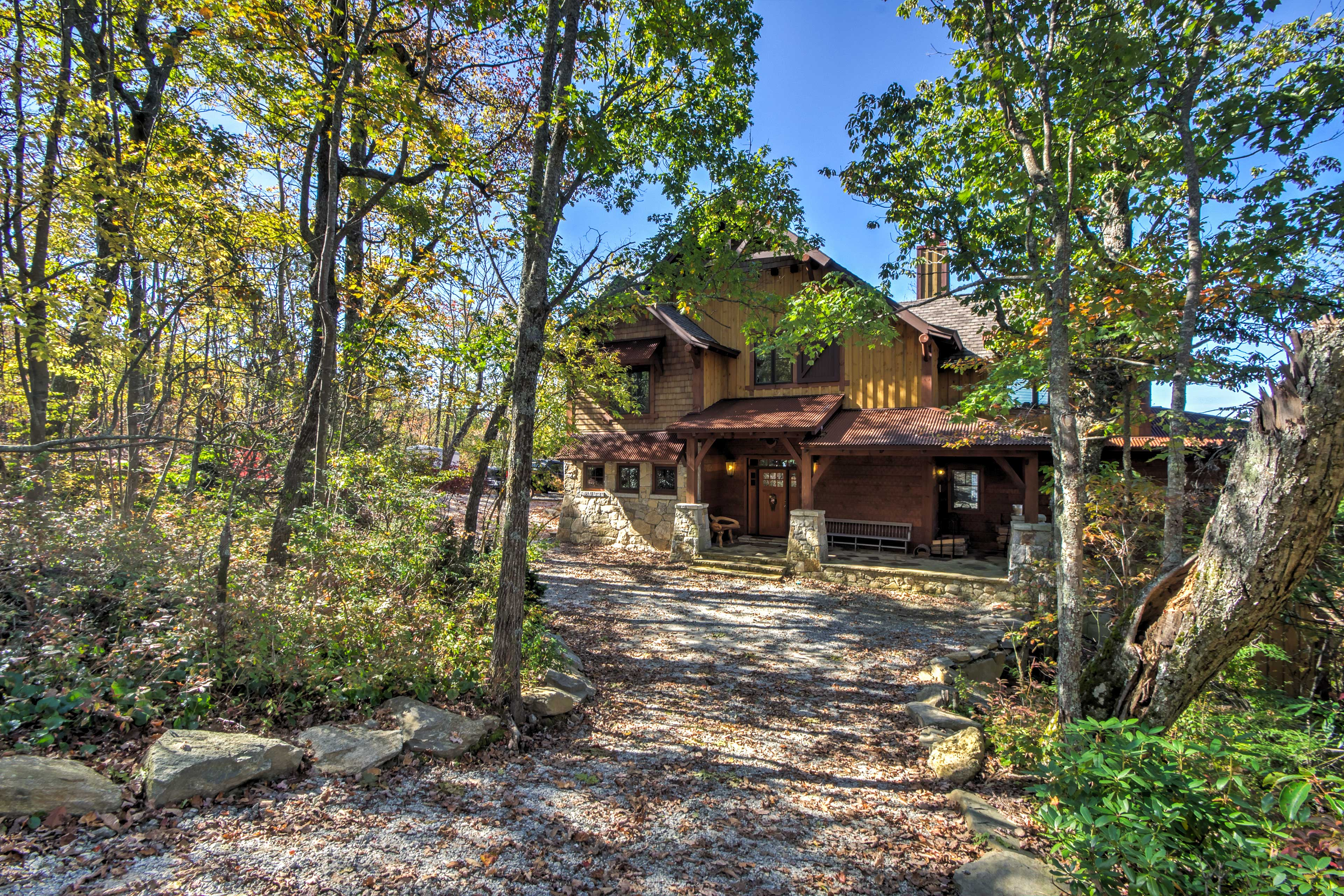This home is situated in a picturesque setting.