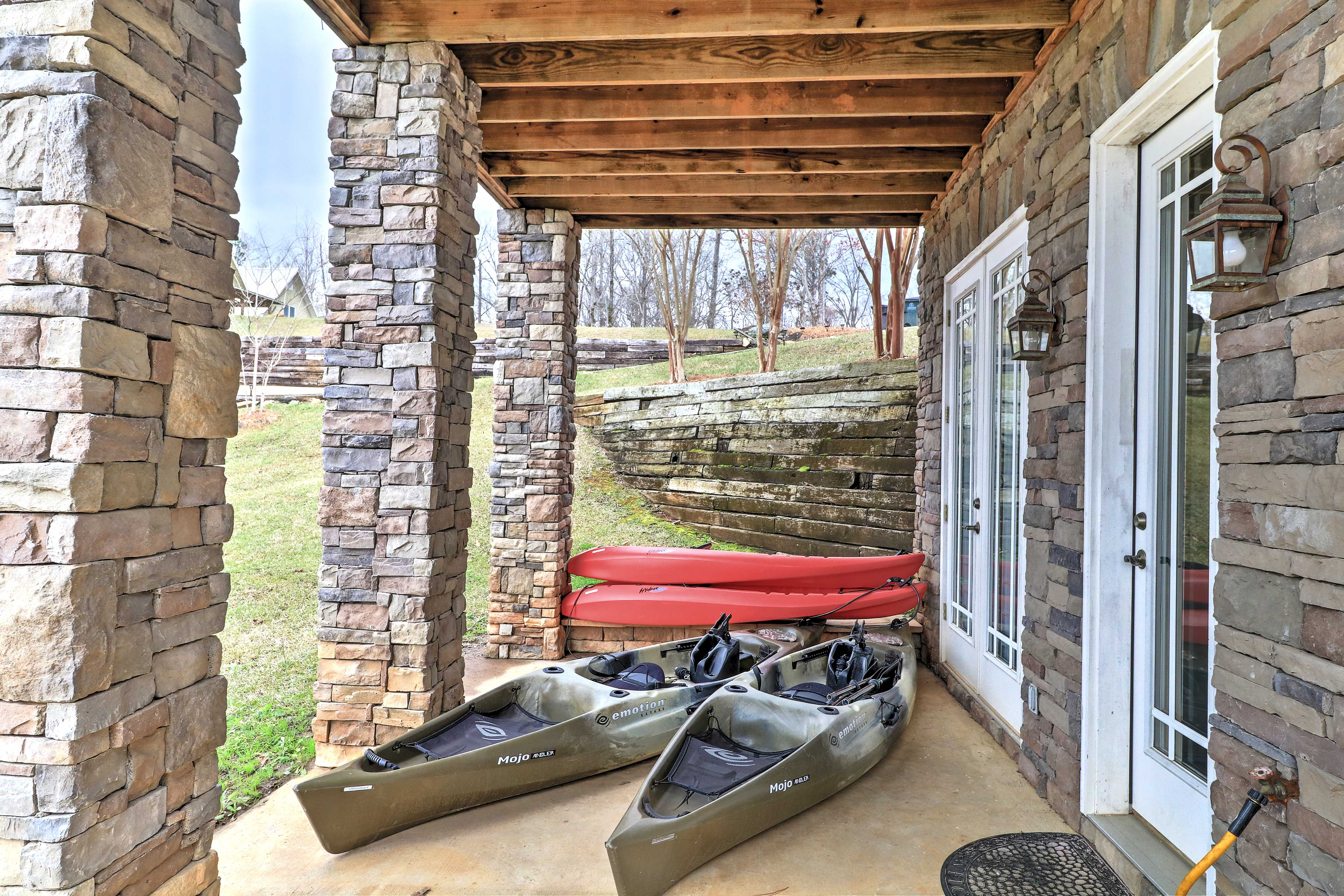 Explore Lake Martin on the 4 provided kayaks that guest are encouraged to use!